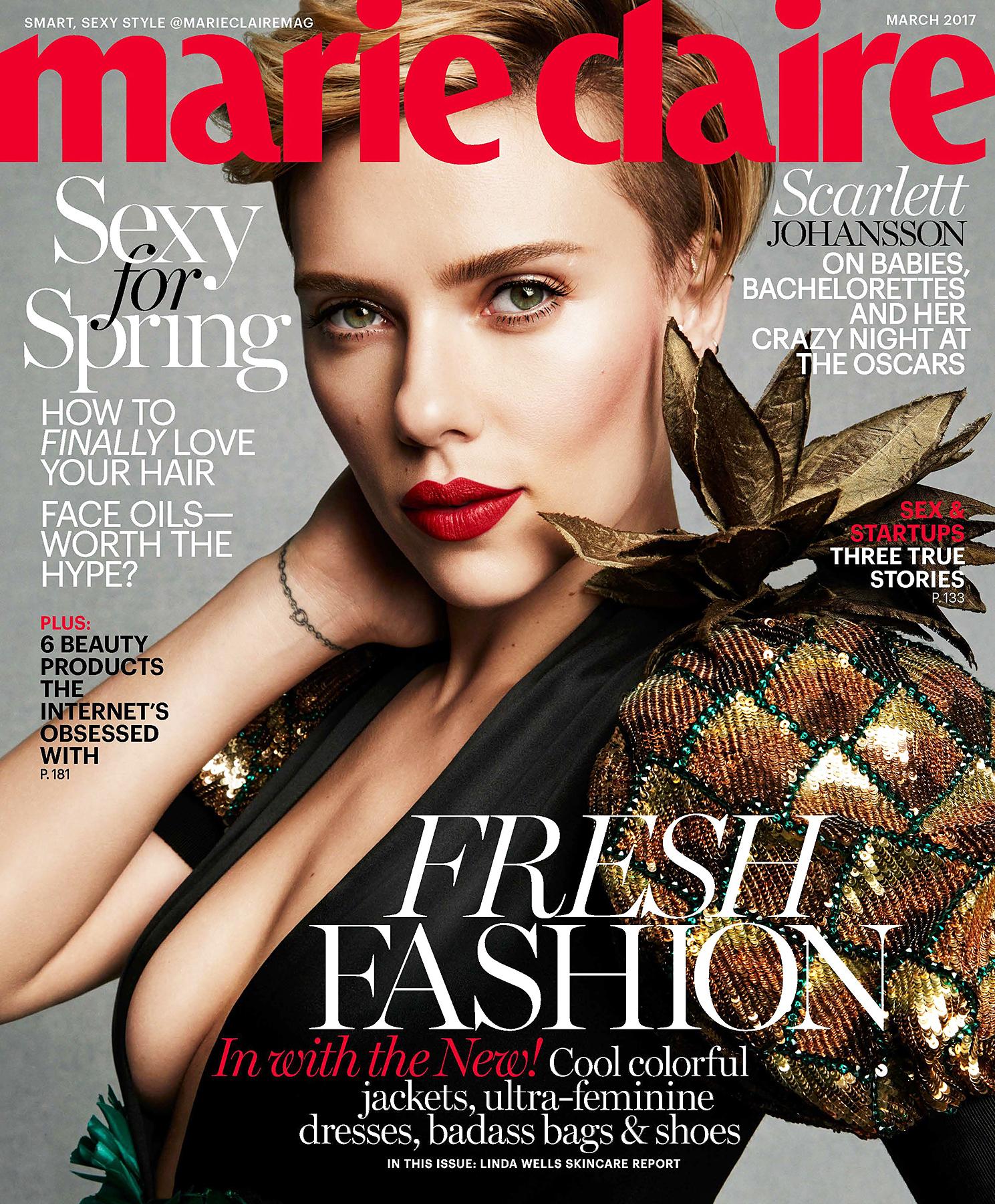 Scarlett Johansson Marie Claire cover