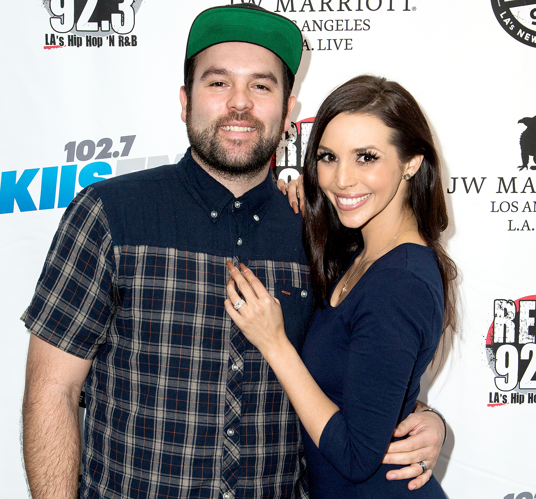 Michael Shay and Scheana Marie attend Alt 98.7, 102.7 KIIS FM and REAL 92.3 Celebrate The 2016 GRAMMY Awards at The Mixing Room at the JW Marriot Los Angeles on February 12, 2016 in Los Angeles, California.