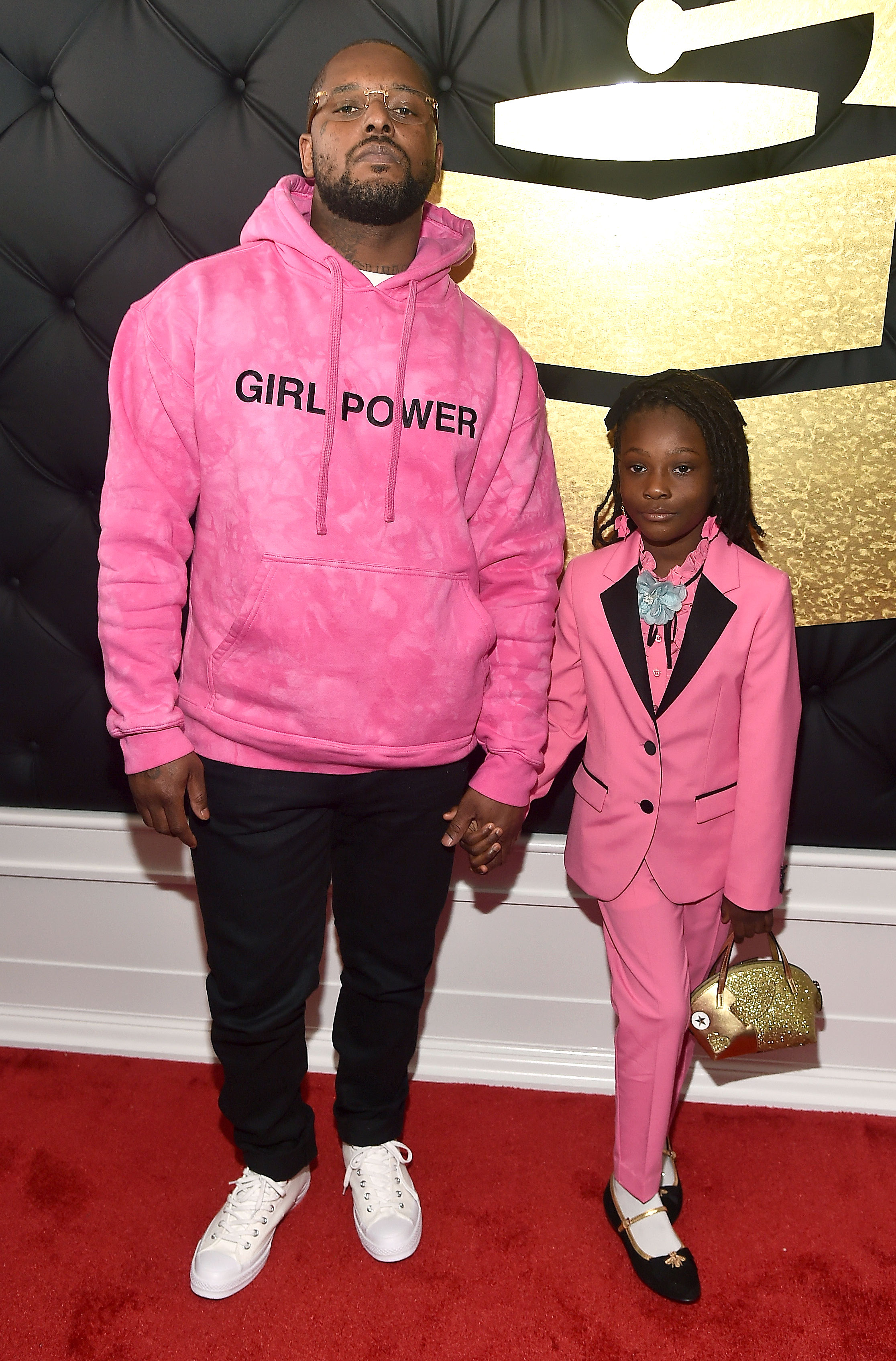 Schoolboy Q and daughter Joy Hanley