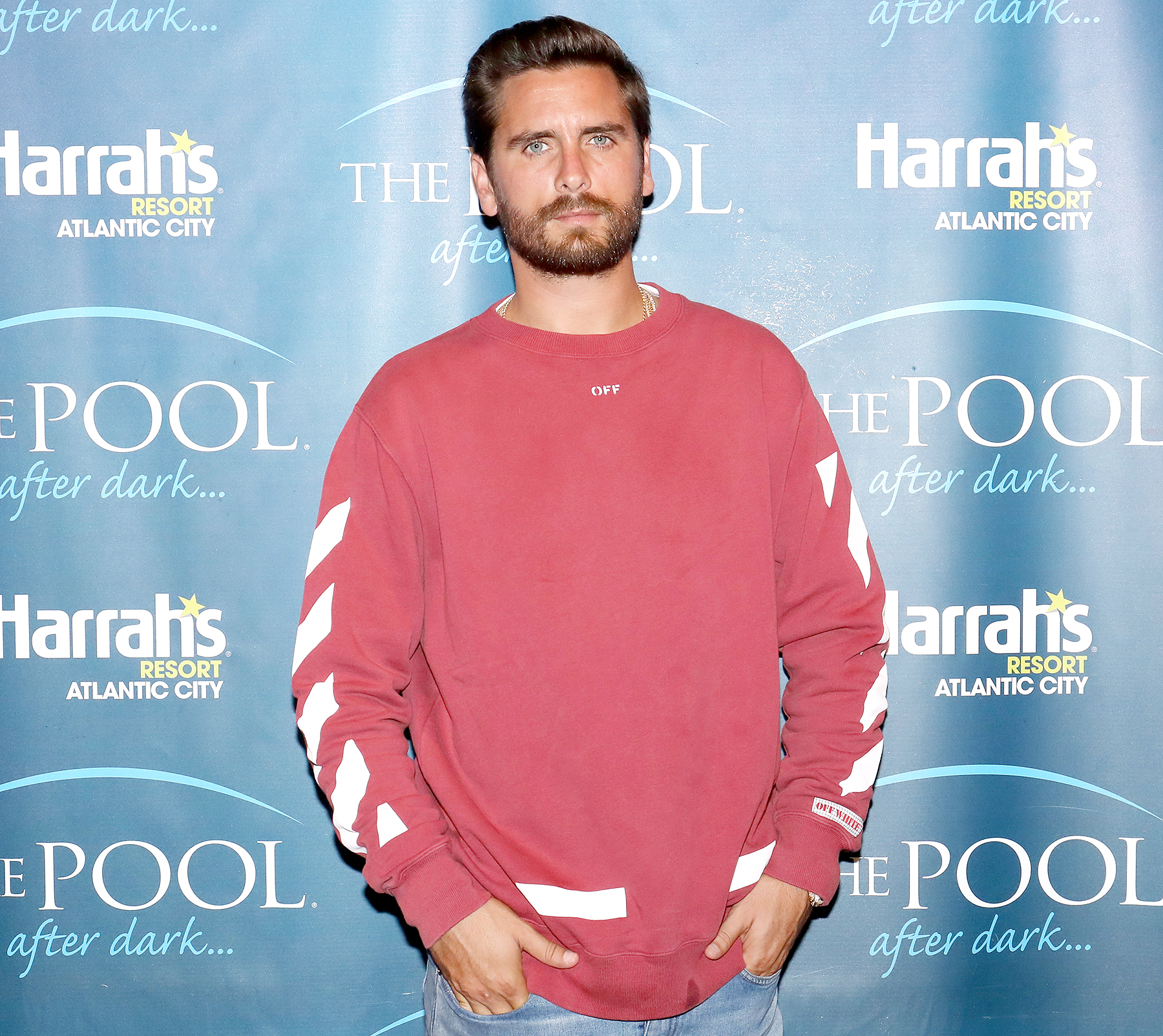 Scott Disick hosts The Pool After Dark at Harrah's Resort in Atlantic City, New Jersey, on August 4, 2017.