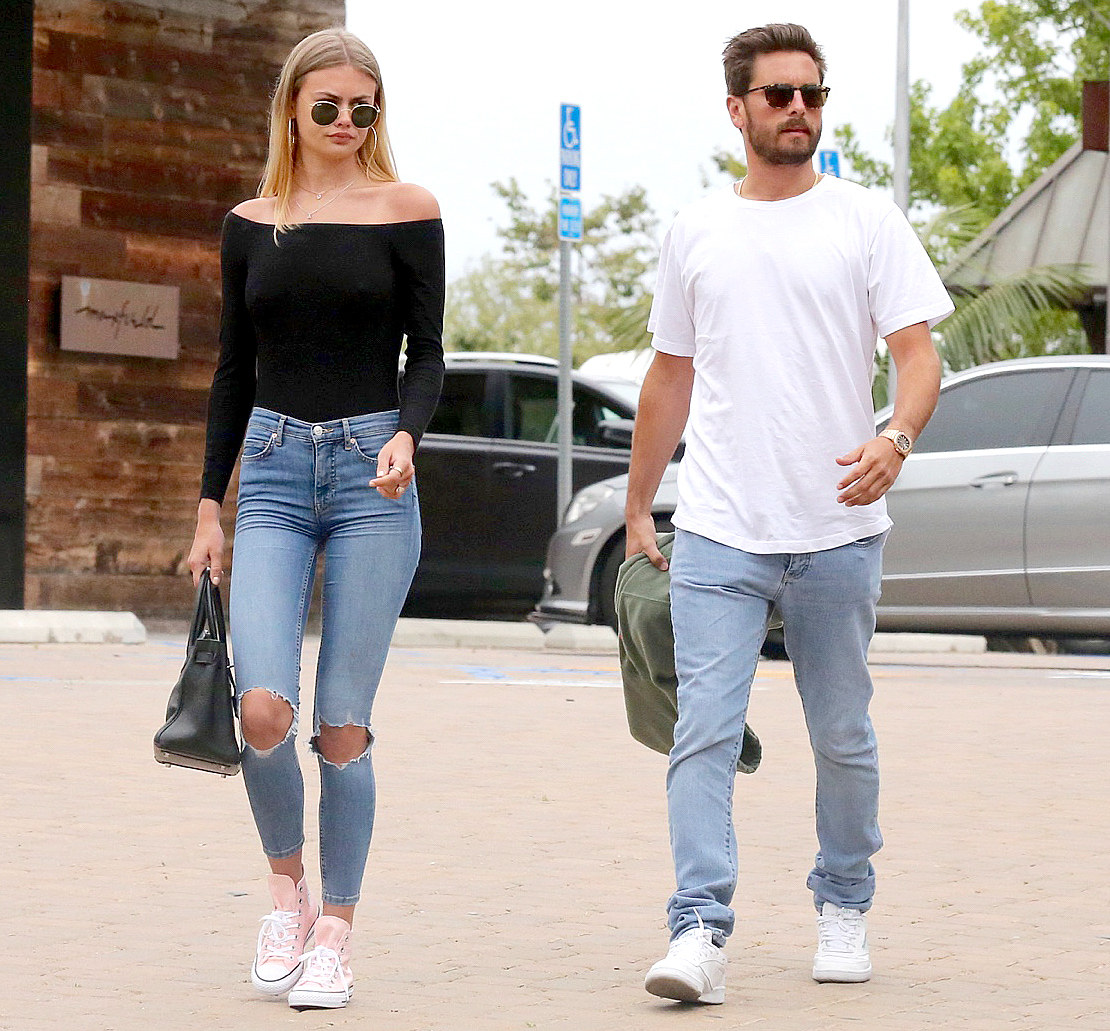 Scott Disick leaves Nobu with Ella Ross on May 5, 2017.