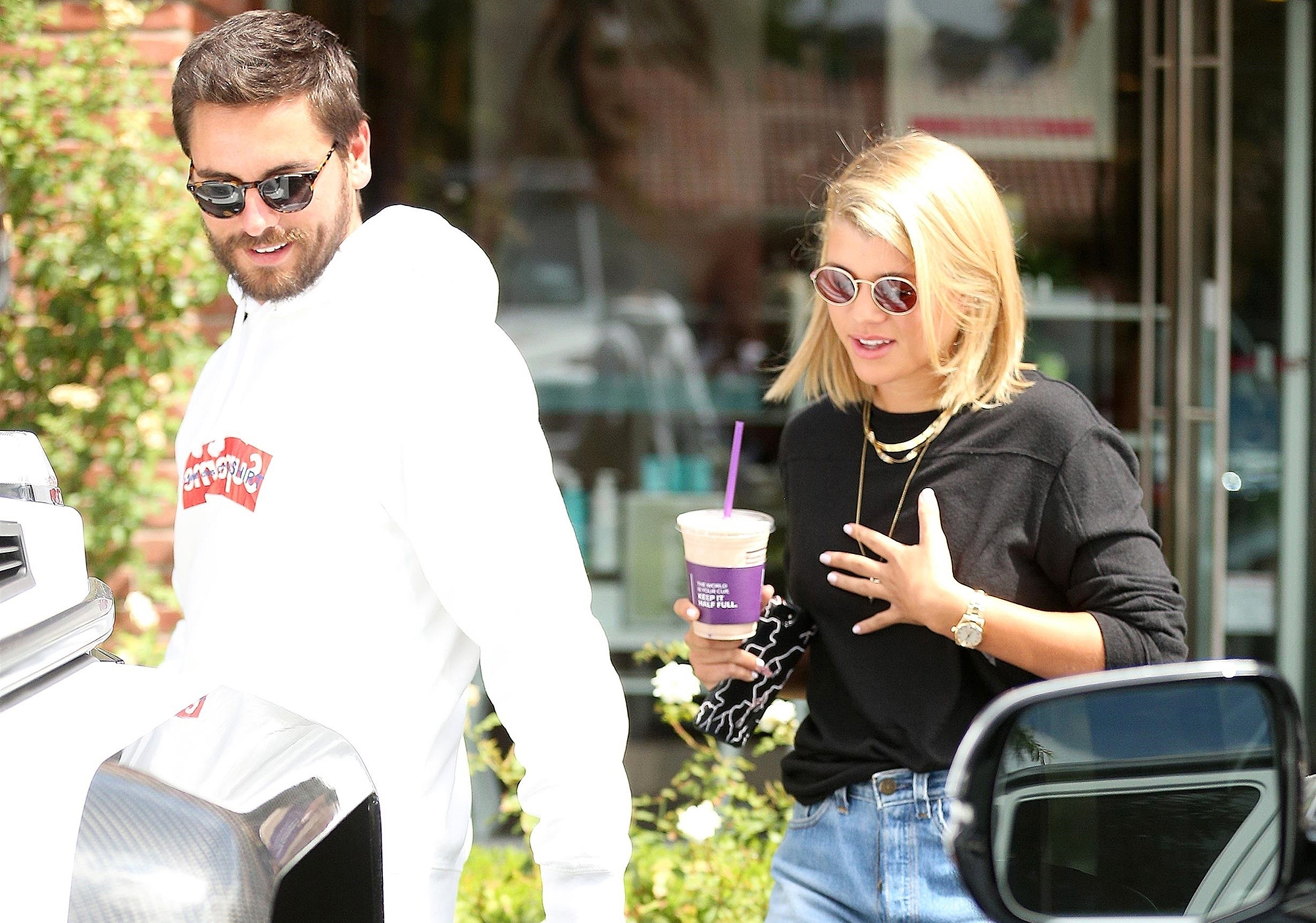 Scott Disick, Sofia Richie, Coffee, Shopping, Date