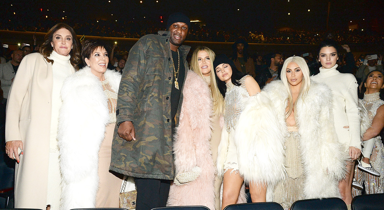 Caitlyn Jenner, Kris Jenner, Lamar Odom, Khloe Jenner, Kylie Jenner, Kim Kardashian West, Kendall Jenner, North West and Kourtney Kardashian