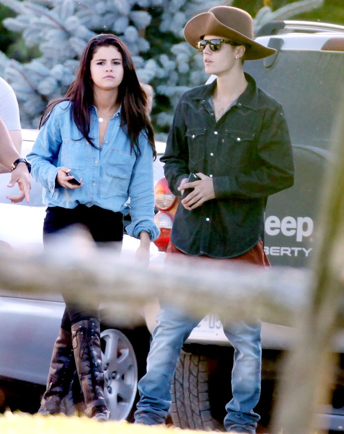 Selena Gomez joins Justin Bieber on a trip to Canada on Thursday August 28, 2014.