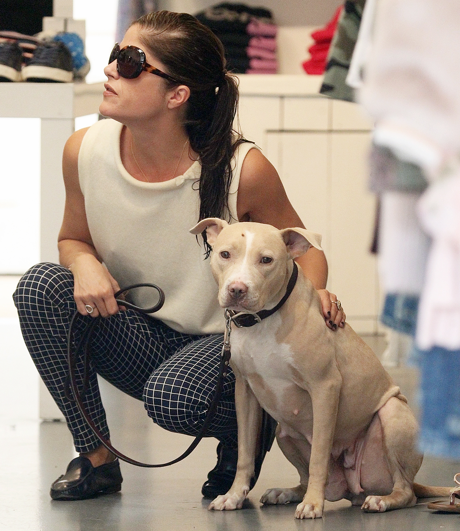 Selma Blair dog Cappy