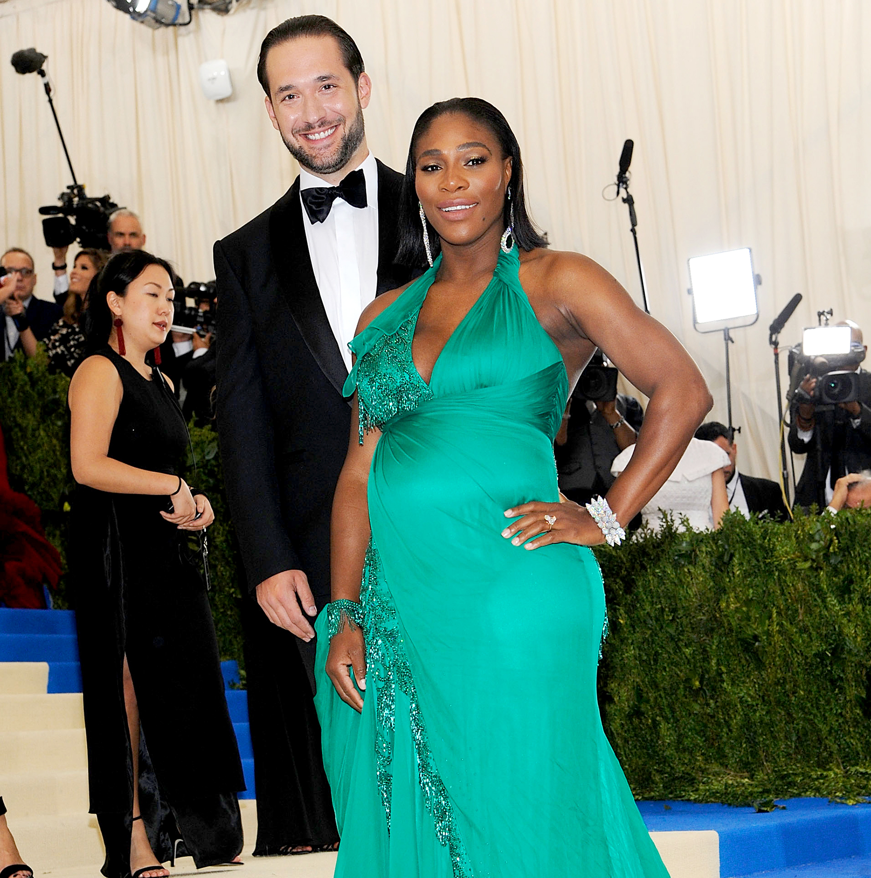 "Serena Williams and Alexis Ohanian attends ""Rei Kawakubo/Comme des Garcons: Art Of The In-Between"" Costume Institute Gala - Arrivals at Metropolitan Museum of Art on May 1, 2017 in New York City."
