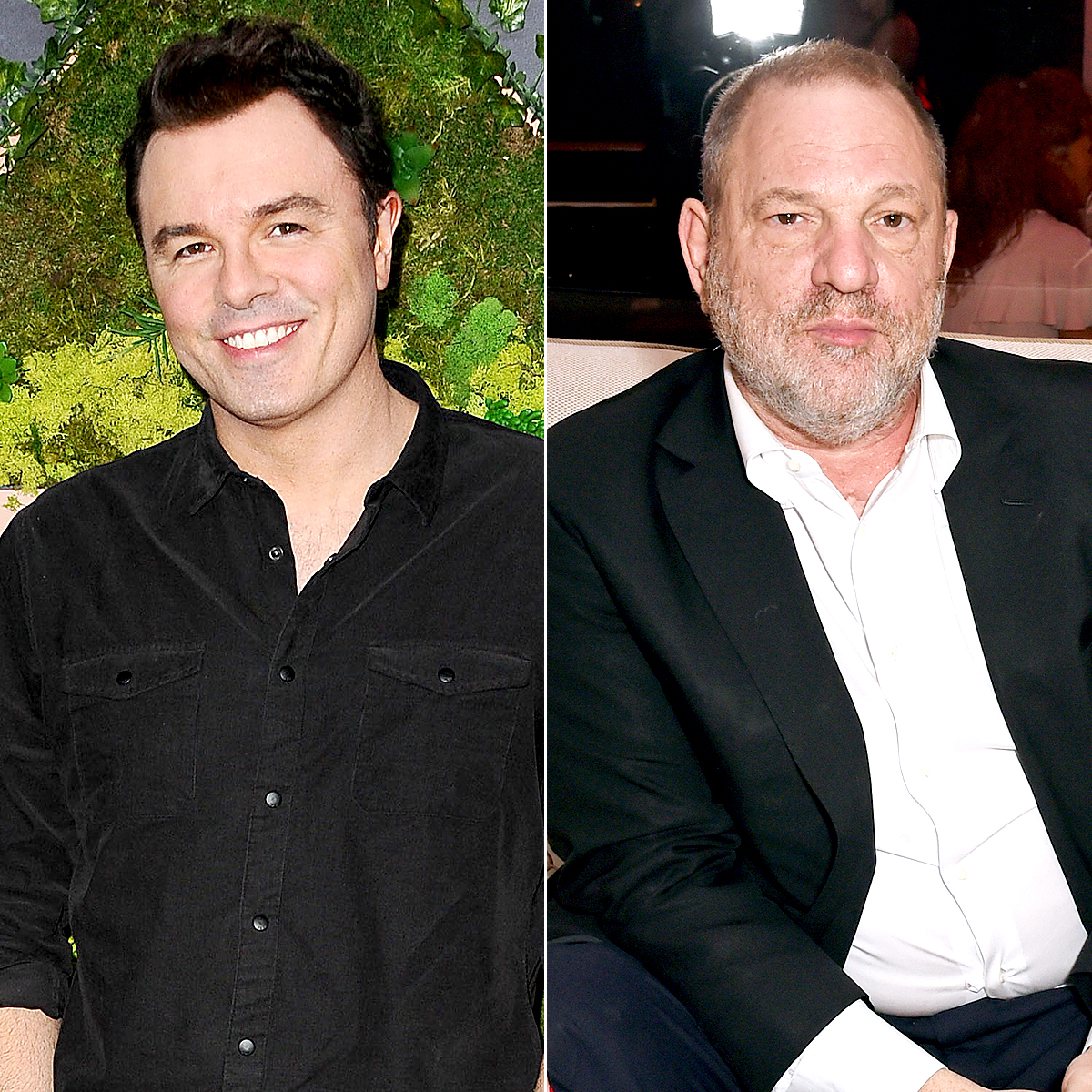 Seth MacFarlane and Harvey Weinstein