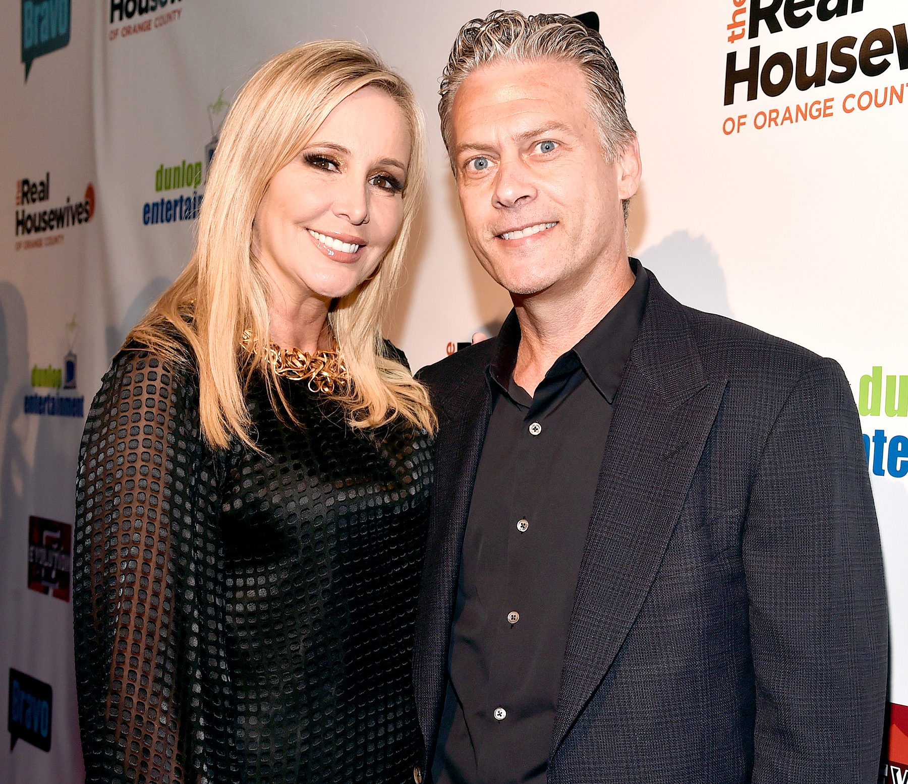 Shannon Beador and David Beador attend the premiere party for Bravo's