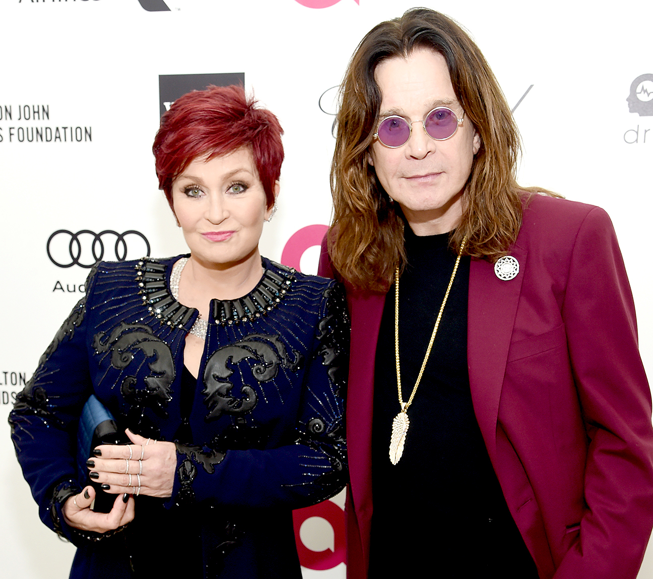 Sharon Osbourne and Ozzy Osbourne attend the 23rd Annual Elton John AIDS Foundation Academy Awards Viewing Party on Feb. 22, 2015.