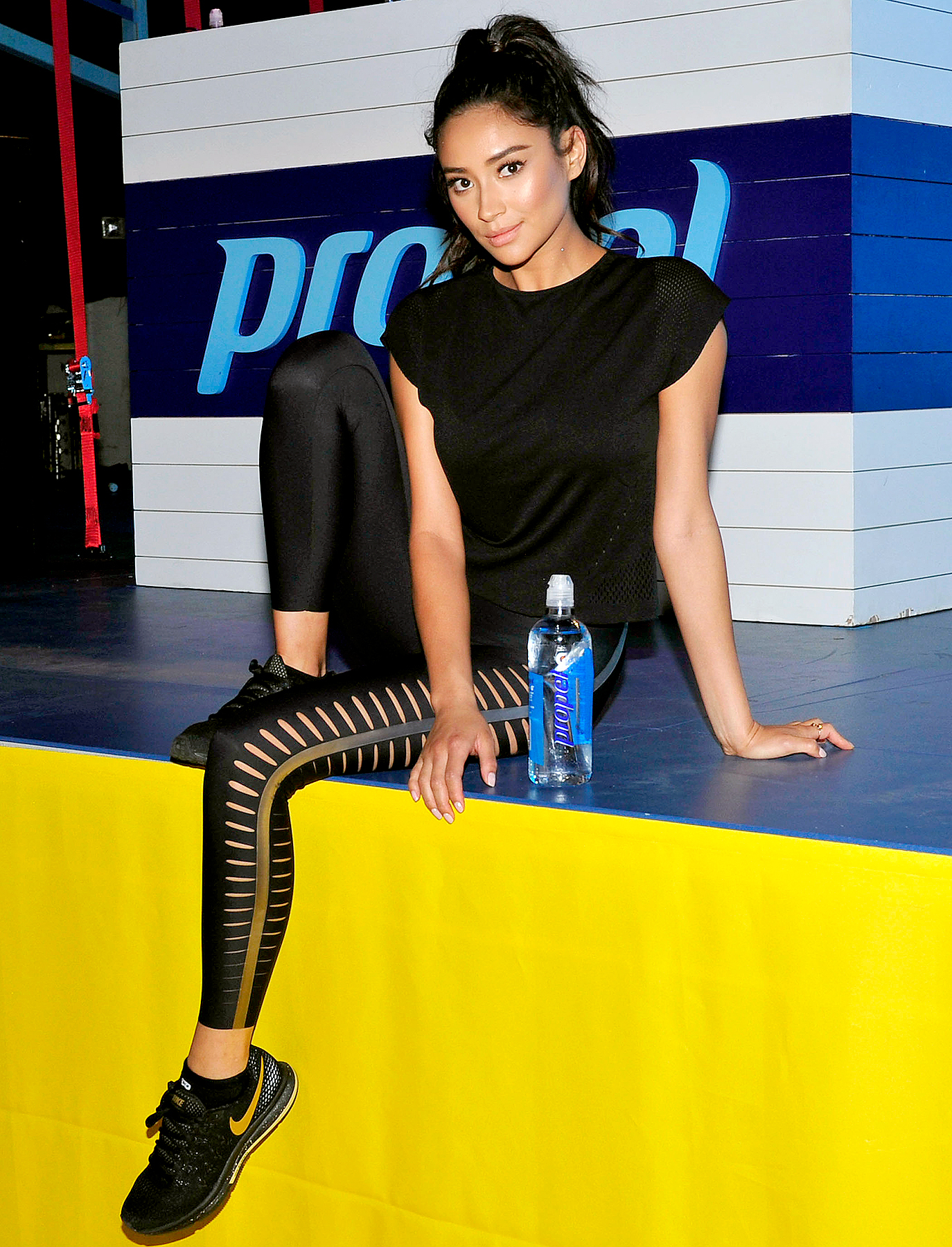 Shay Mitchell joined trainer Harley Pasternak for a workout at the first-ever Propel Co:Labs Fitness Festival in Los Angeles, August 12, 2017.