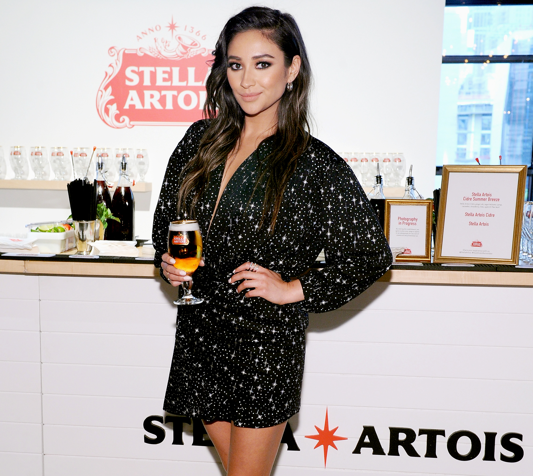 "Shay Mitchell and Stella Artois ""Host One to Remember"" this summer at the Stella Artois Braderie in New York City on June 6, 2017."