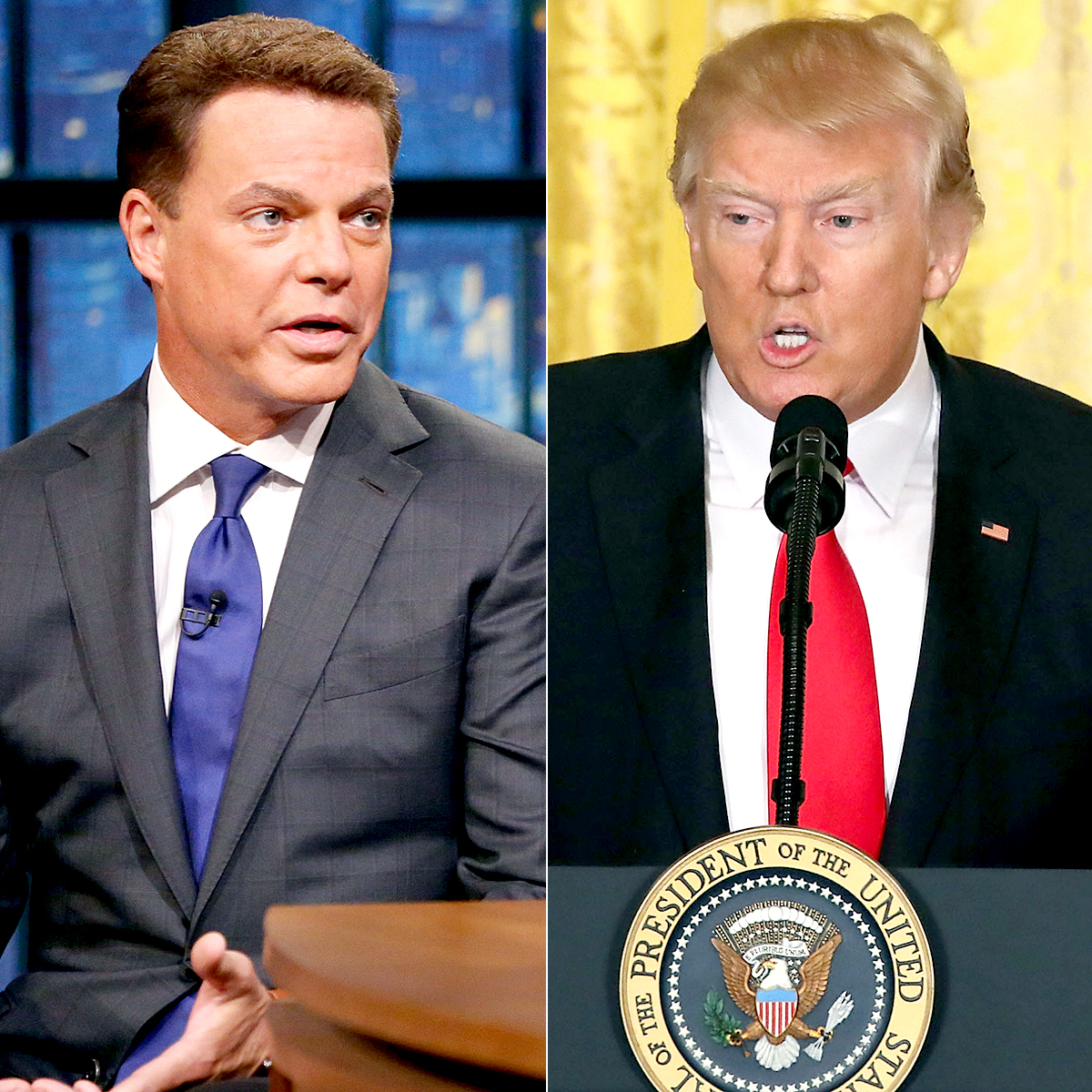 Shepard Smith and Donald Trump