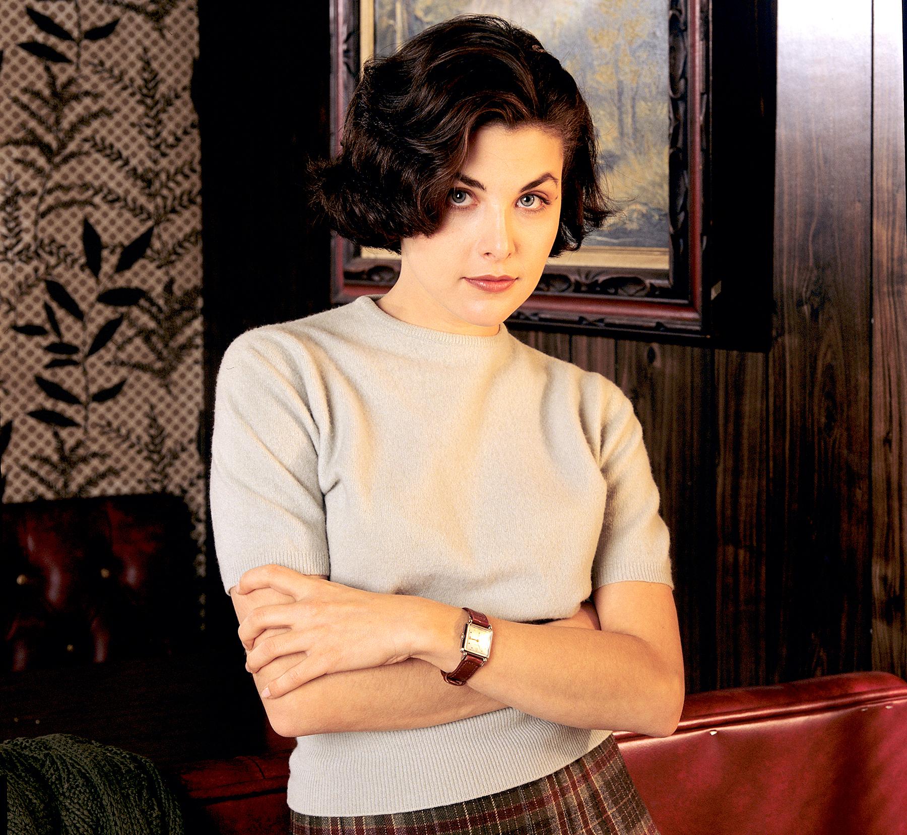 Sherilyn Fenn stars as Audrey Horne in Twin Peaks on 1989.