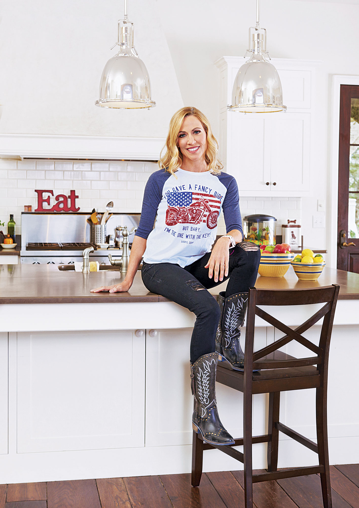 Sheryl Crow Inside My Kitchen home house nashville eat food