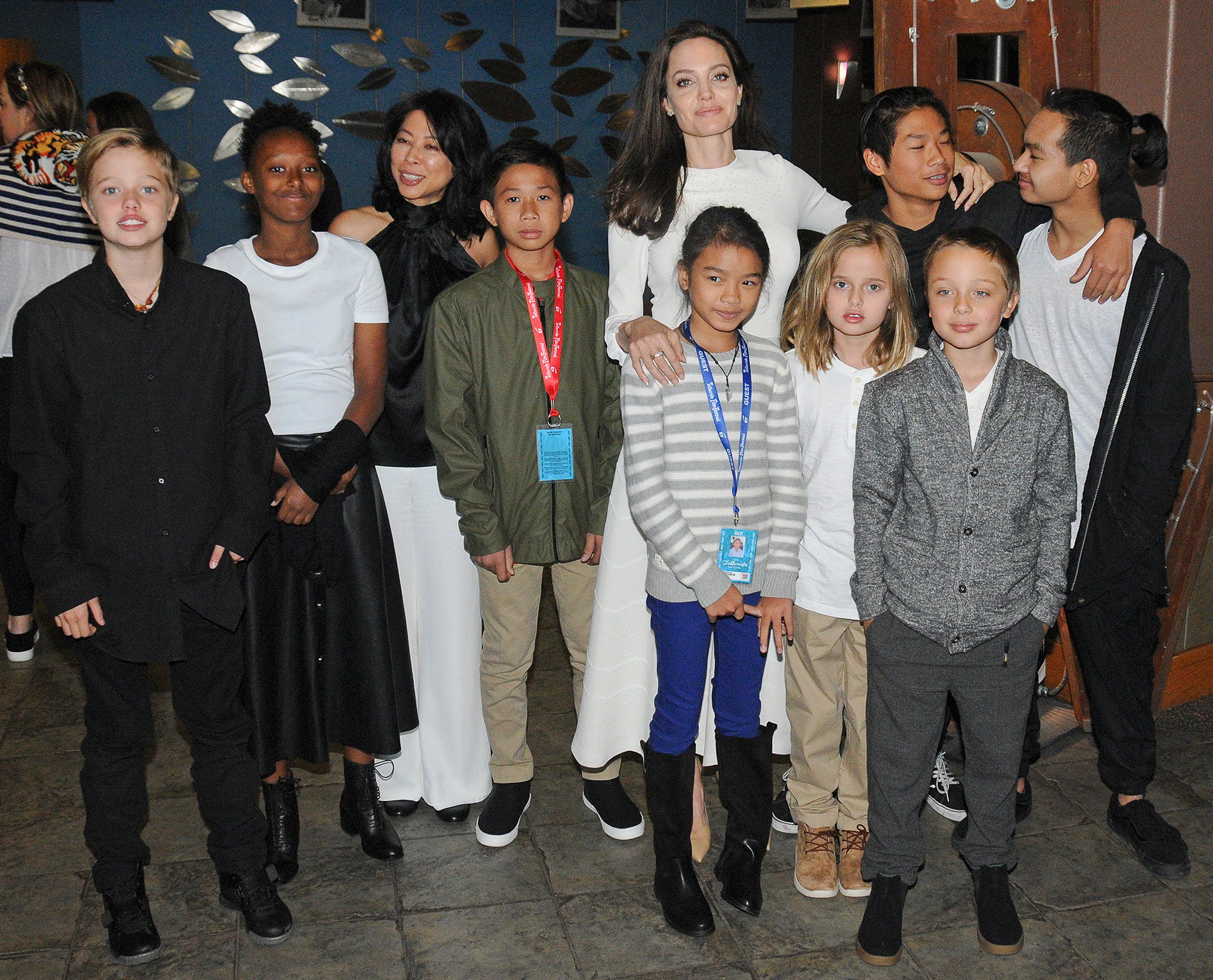 Shiloh, Zahara, Angelina Jolie, Vivienne, Pax, Knox, Maddox Jolie-Pitt, First They Killed My Father, Telluride Film Festival