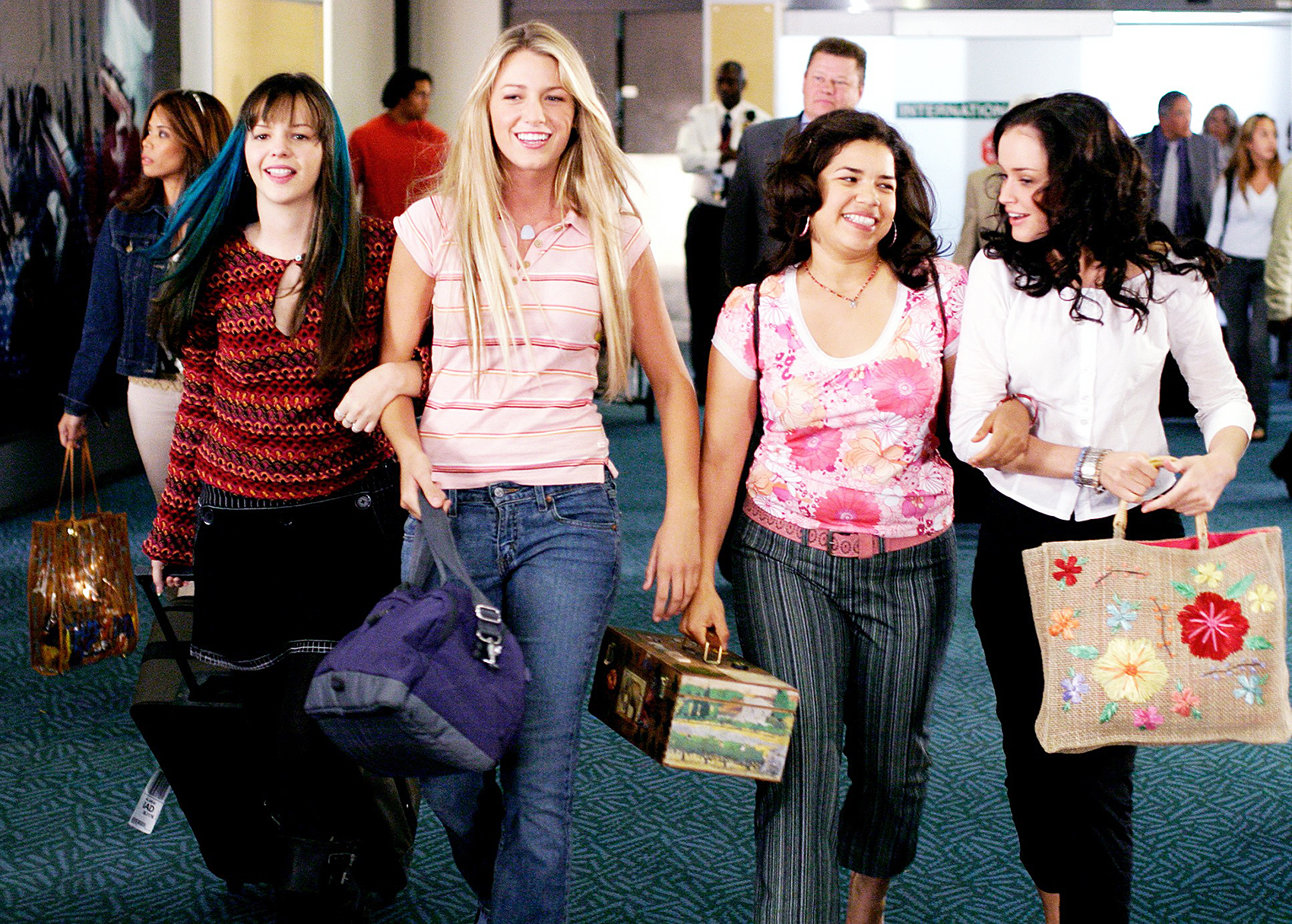 Amber Tamblyn Blake Lively America Ferrera Alexis Bledel Sisterhood Of The Traveling Pants
