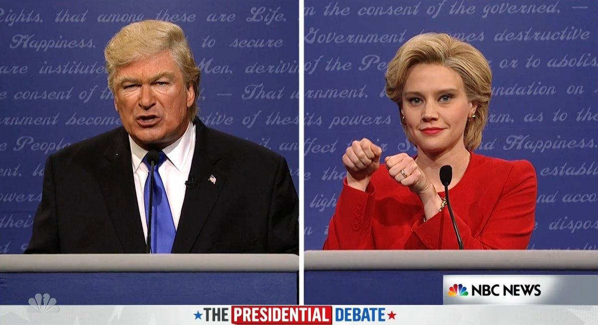 Alec Baldwin and Kate McKinnon
