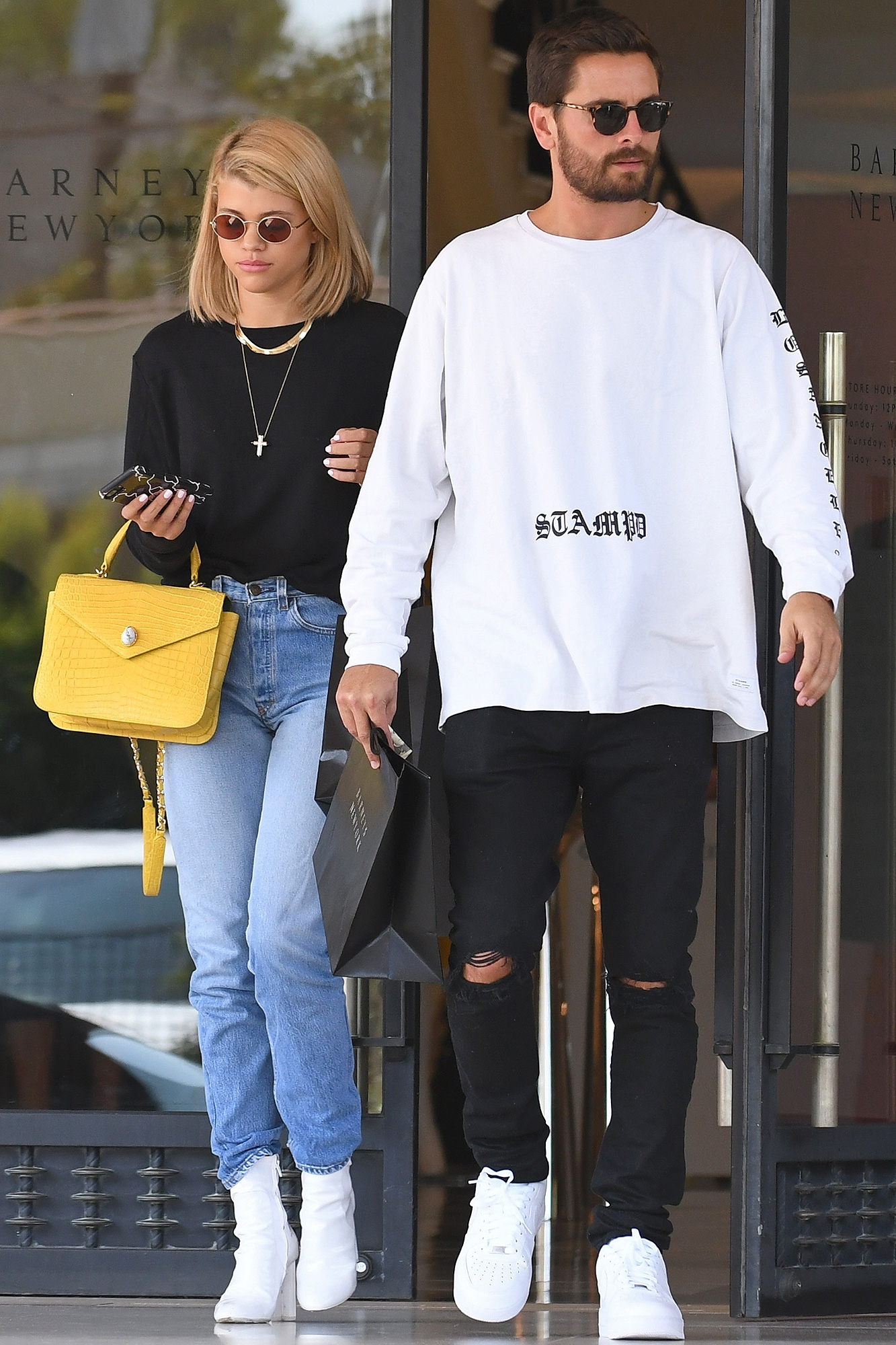 ca61a2c4 Scott Disick and Sofia Richie Fuel Romance Rumors With Coffee and Shopping  Date