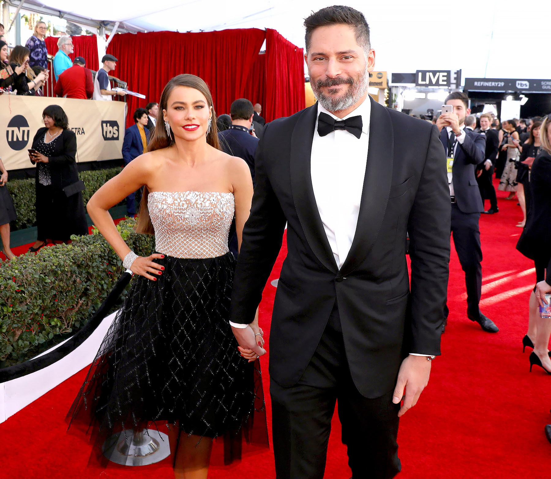 Sofia Vergara and Joe Manganiello arrive at the 23rd Annual Screen Actors Guild Awards.