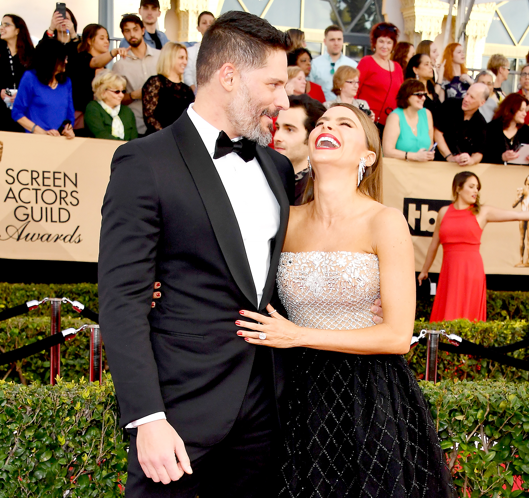 Joe Manganiello and Sofia Vergara attend the 23rd Annual Screen Actors Guild Awards.