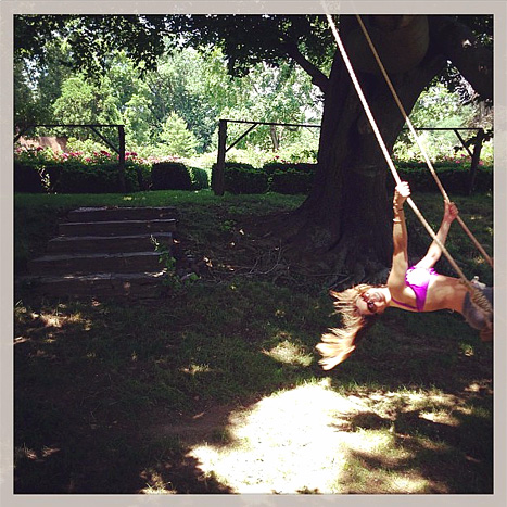 Sofia Vergara swinging
