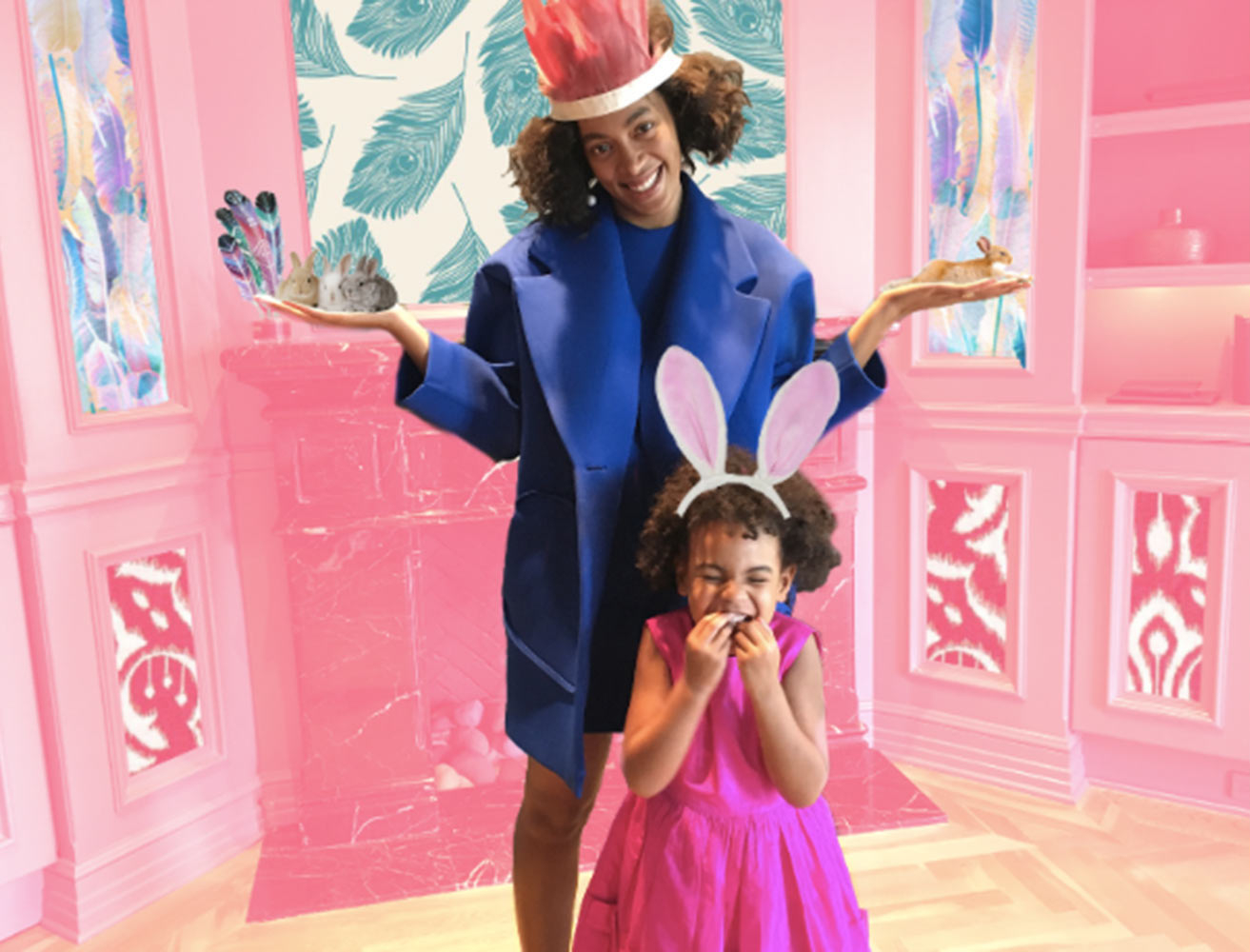 Blue Ivy and Solange Knowles