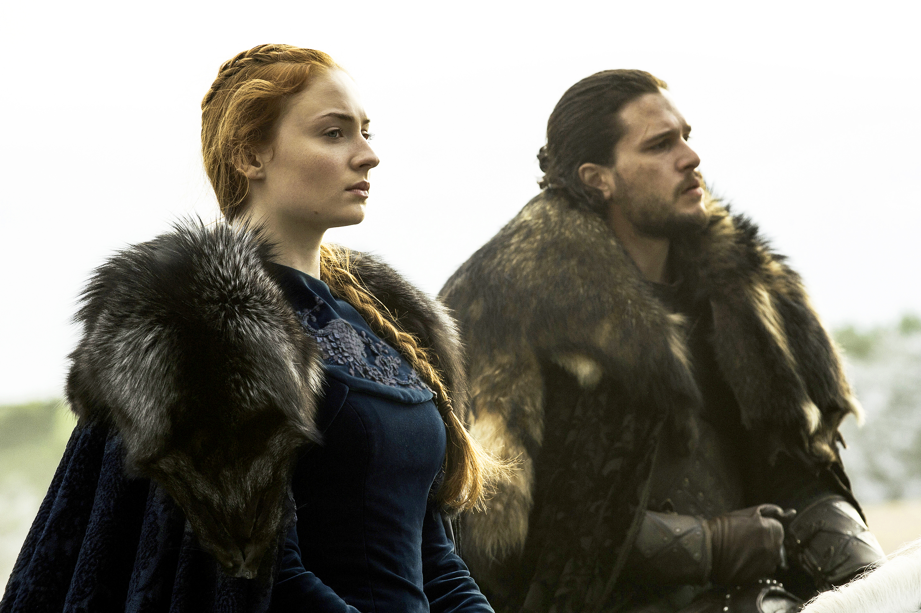 Sophie Turner and Kit Harington Game of Thrones