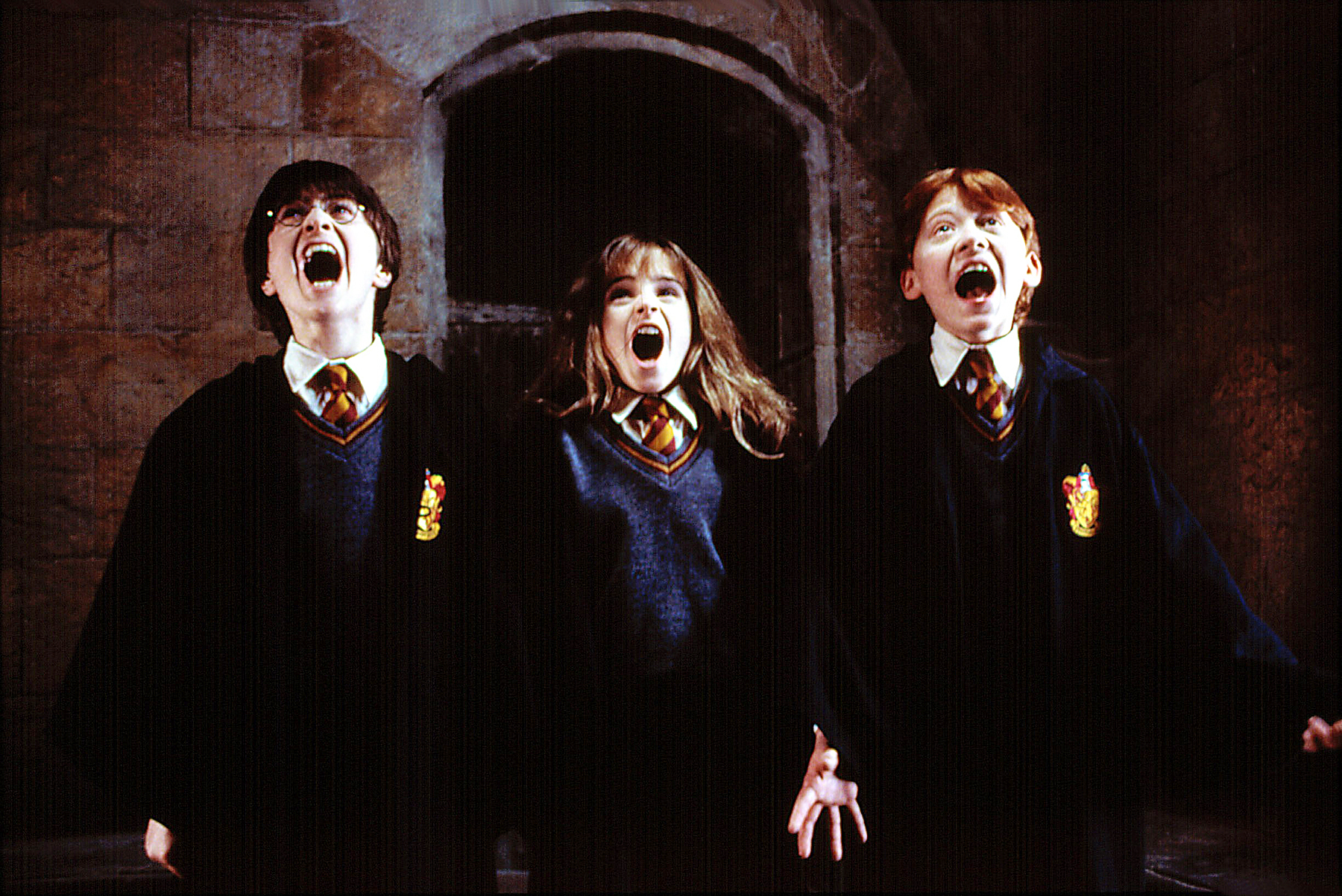 Daniel Radcliffe Emma Watson Rupert Grint Harry Potter and the Sorcerer's Stone