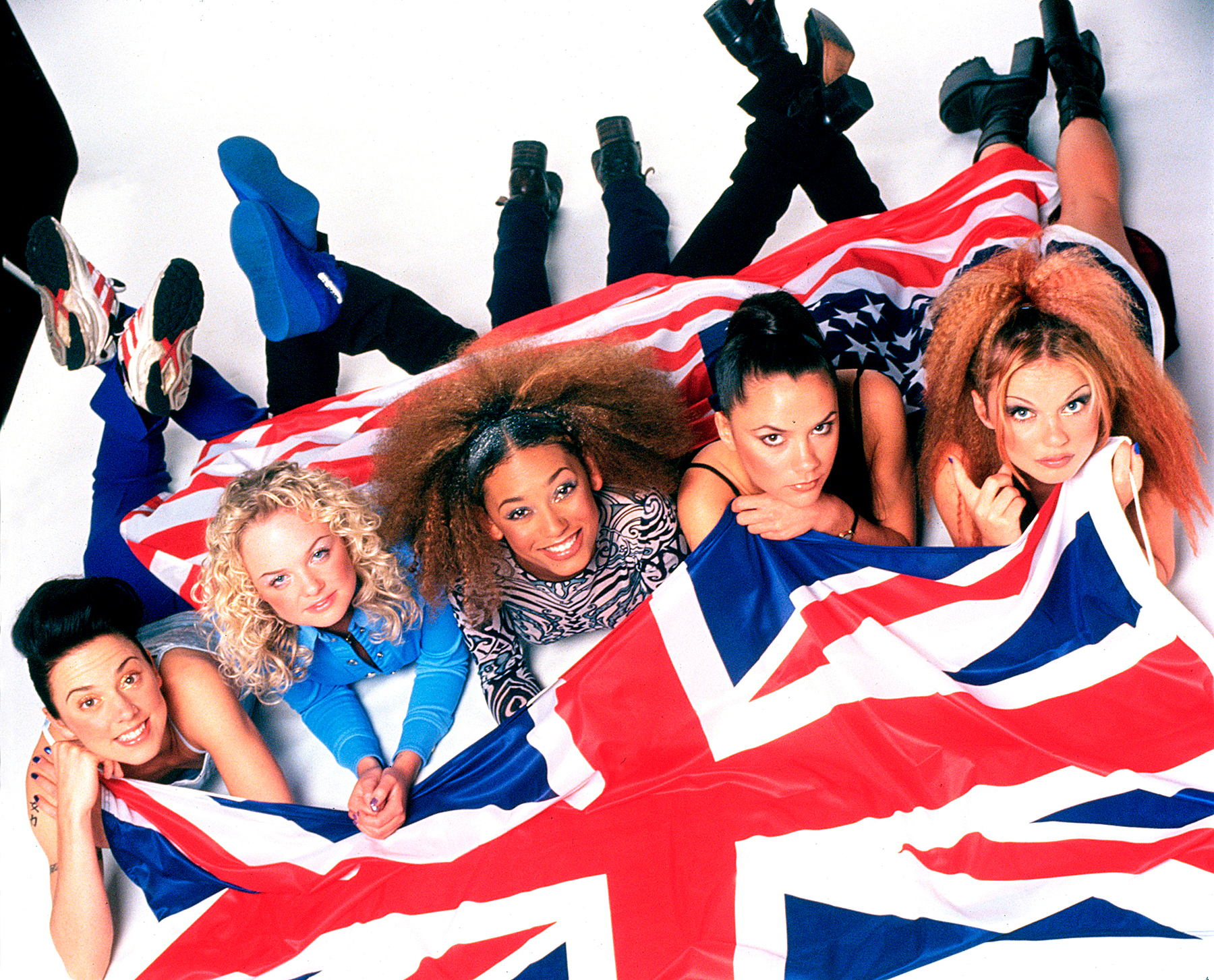 The Spice Girls photographed in February 1997
