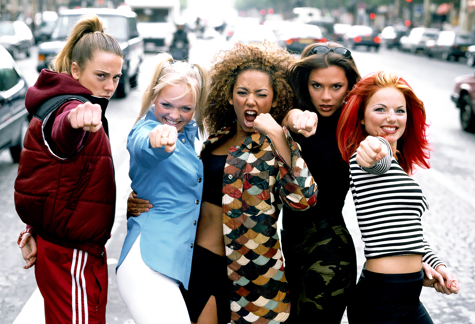 The Spice Girls, Paris, September 1996.