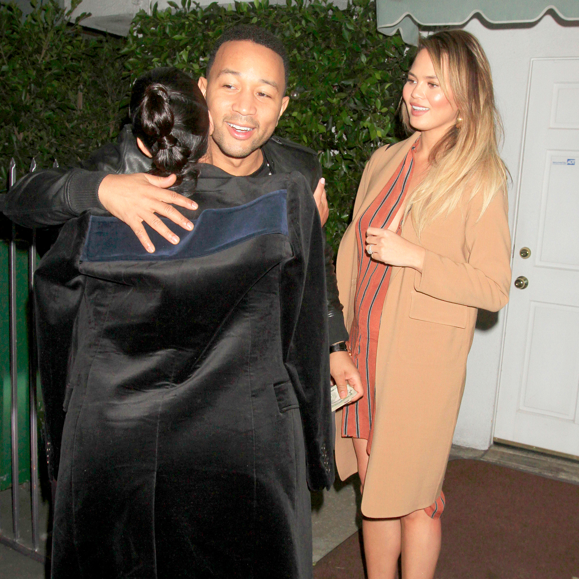 Kim Kardashian, John Legend and Chrissy Teigen