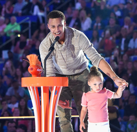 9d04094856da Riley Curry Stephen Curry s daughter Riley was the star attraction at the  Kids  Choice Sports Awards ...