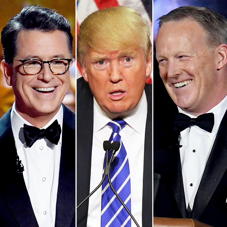 Stephen Colbert Donald Trump Sean Spicer