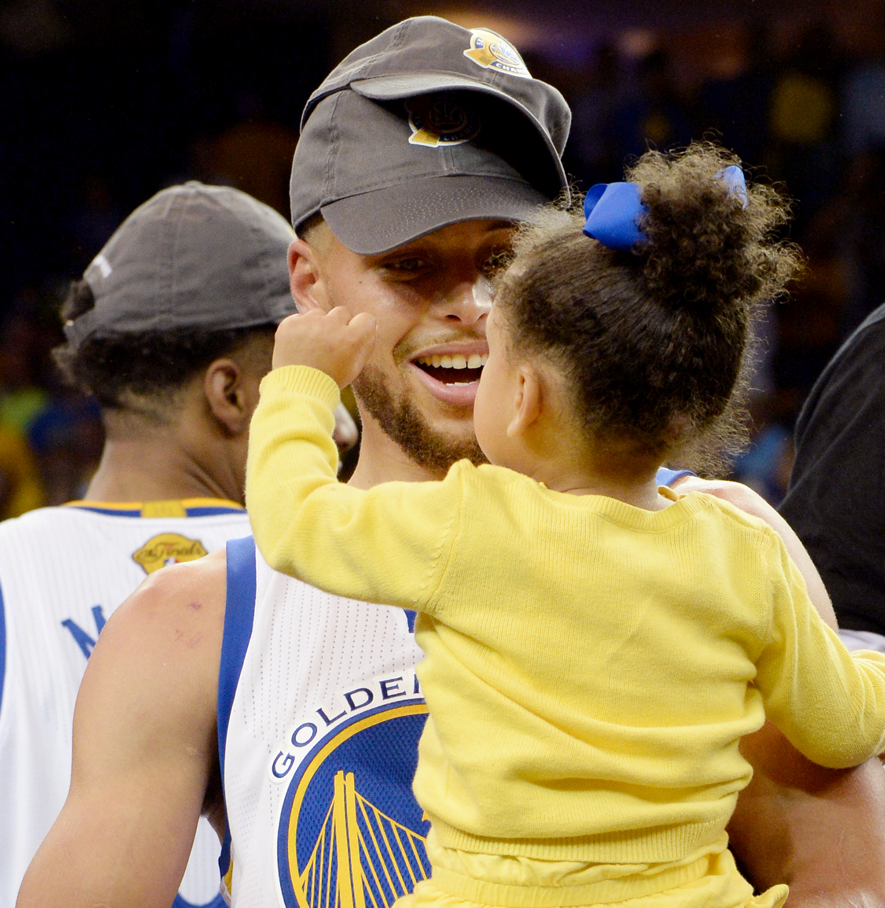 Stephen Curry #30 of the Golden State Warriors celebrates after winning the 2017 NBA Finals on June 12, 2017 at ORACLE Arena in Oakland, California.