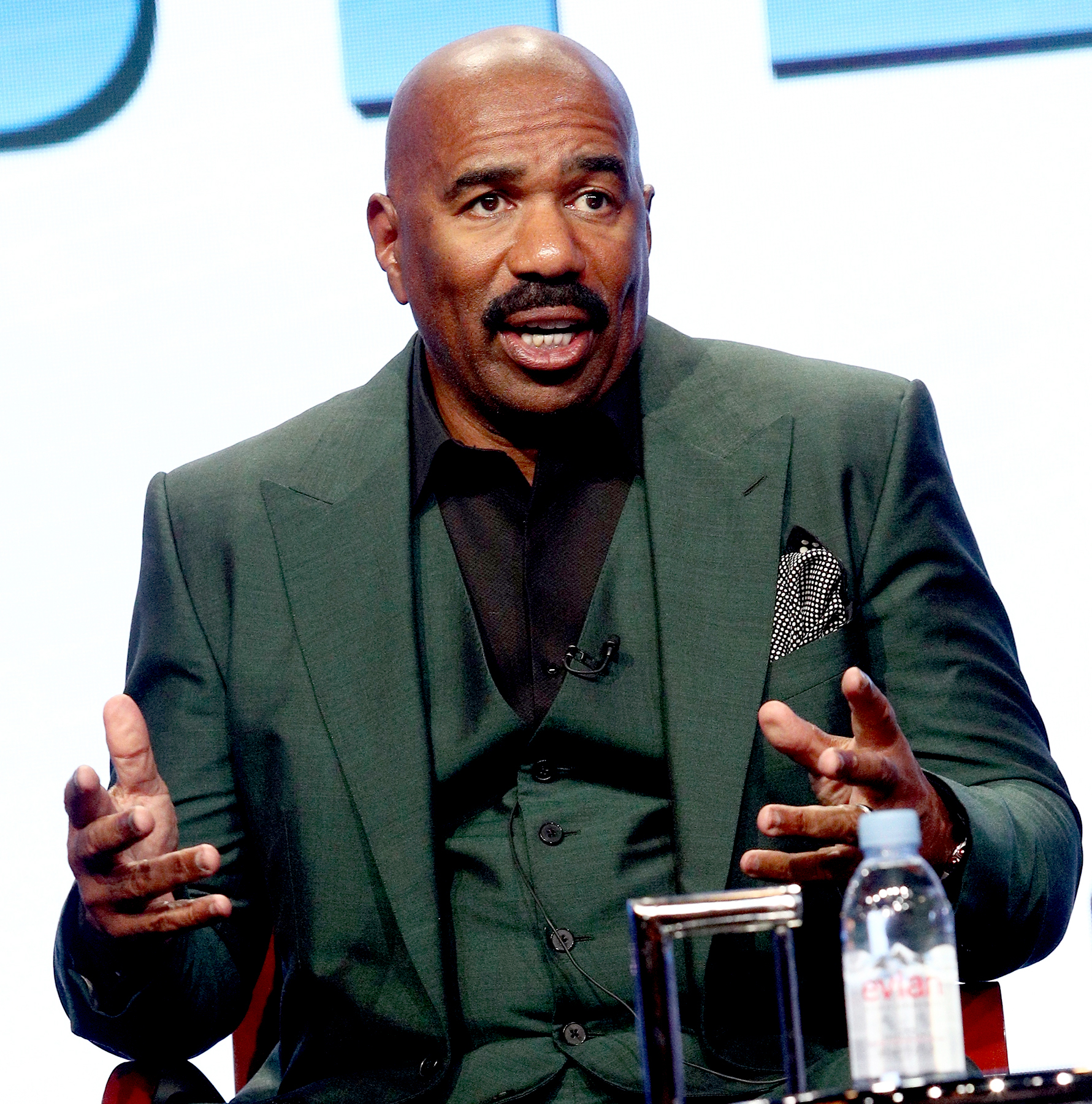Steve Harvey of 'STEVE' speaks onstage during the NBCUniversal portion of the 2017 Summer Television Critics Association Press Tour at The Beverly Hilton Hotel on August 3, 2017 in Beverly Hills, California.