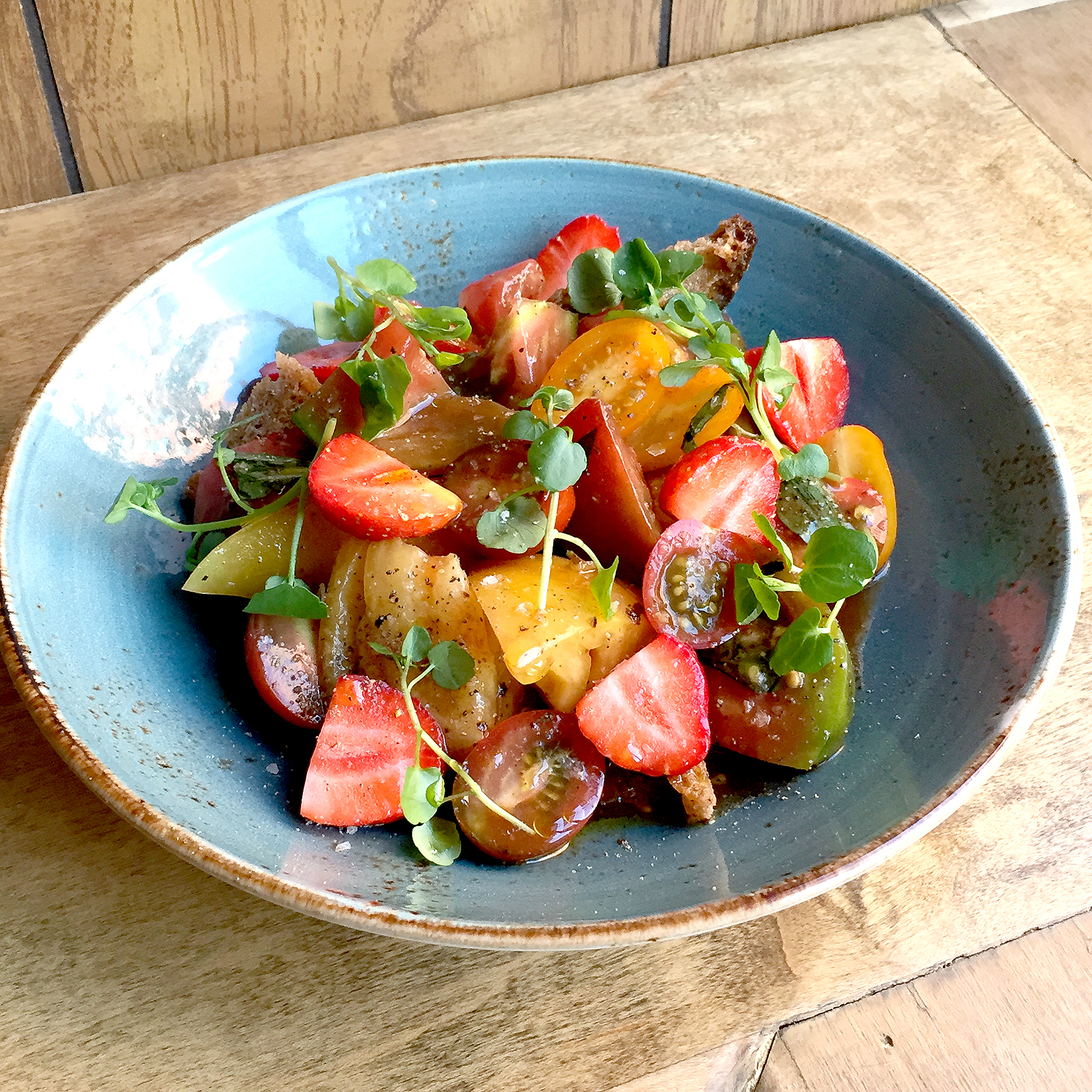 Tomato-Strawberry Panzanella