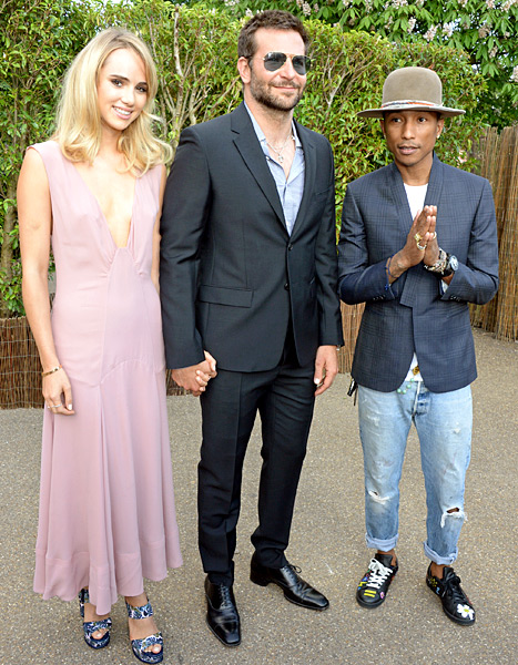 Suki Waterhouse, Bradley Cooper and Pharrell Williams