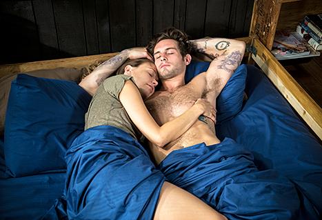 Sutton Foster and Nico Tortorella in bed