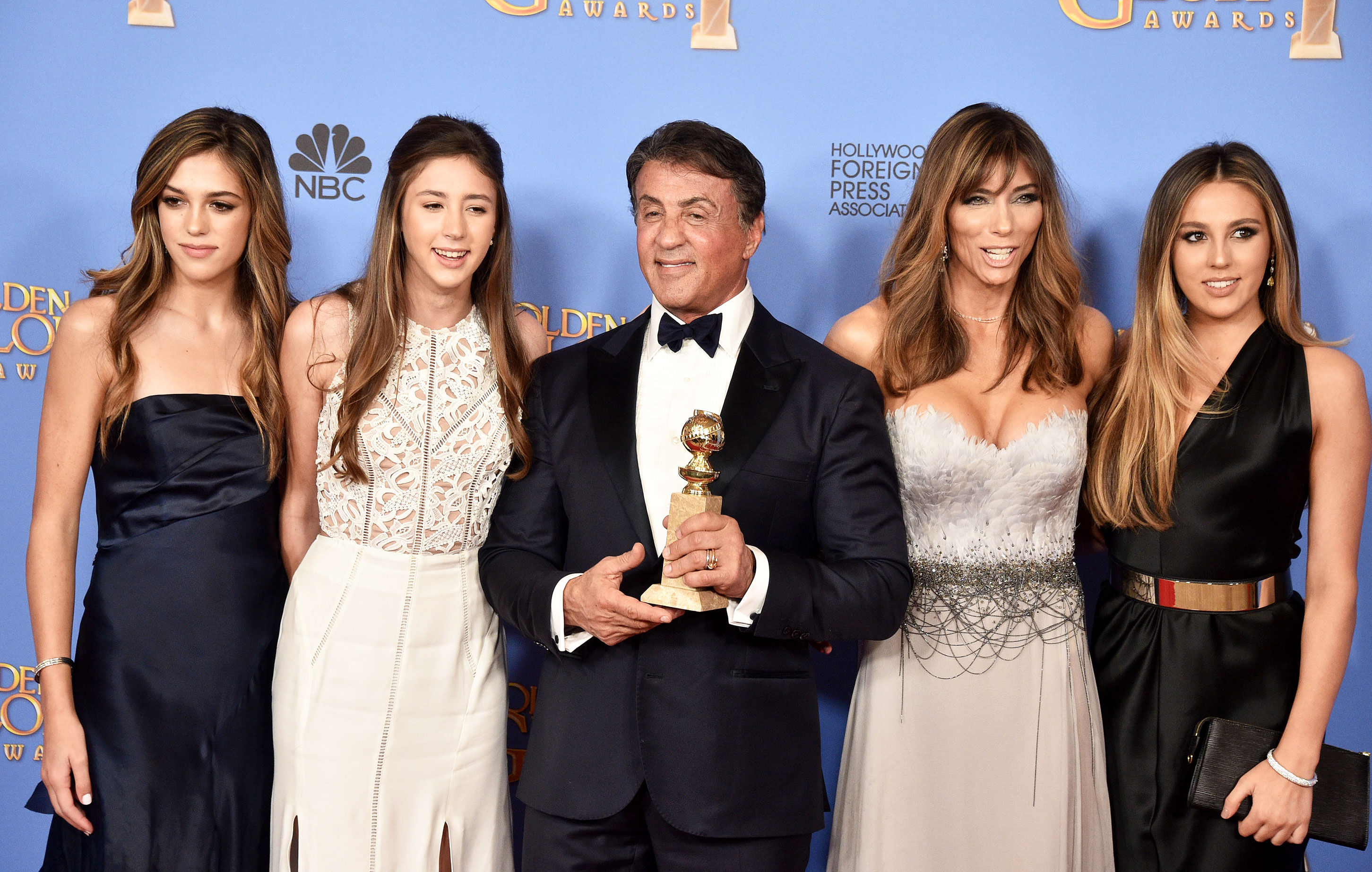 Golden Globes 2016 Sylvester Stallone Brought His Family