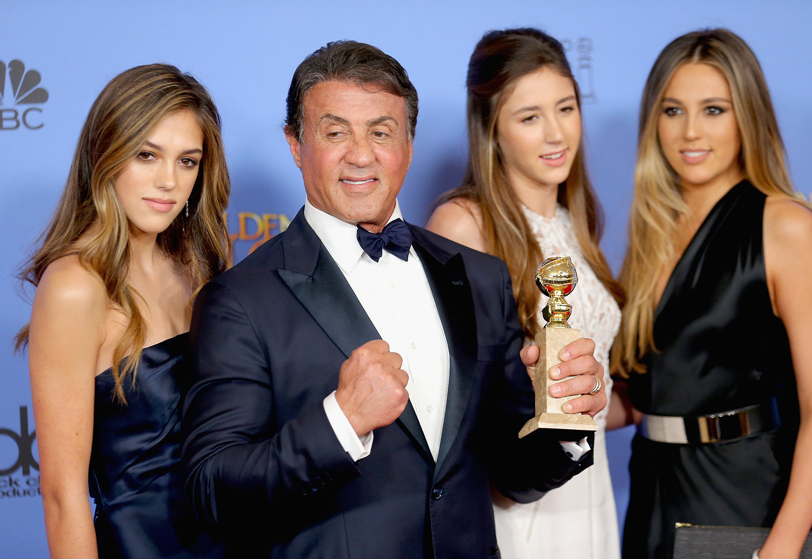 Sylvester Stallone with daughters