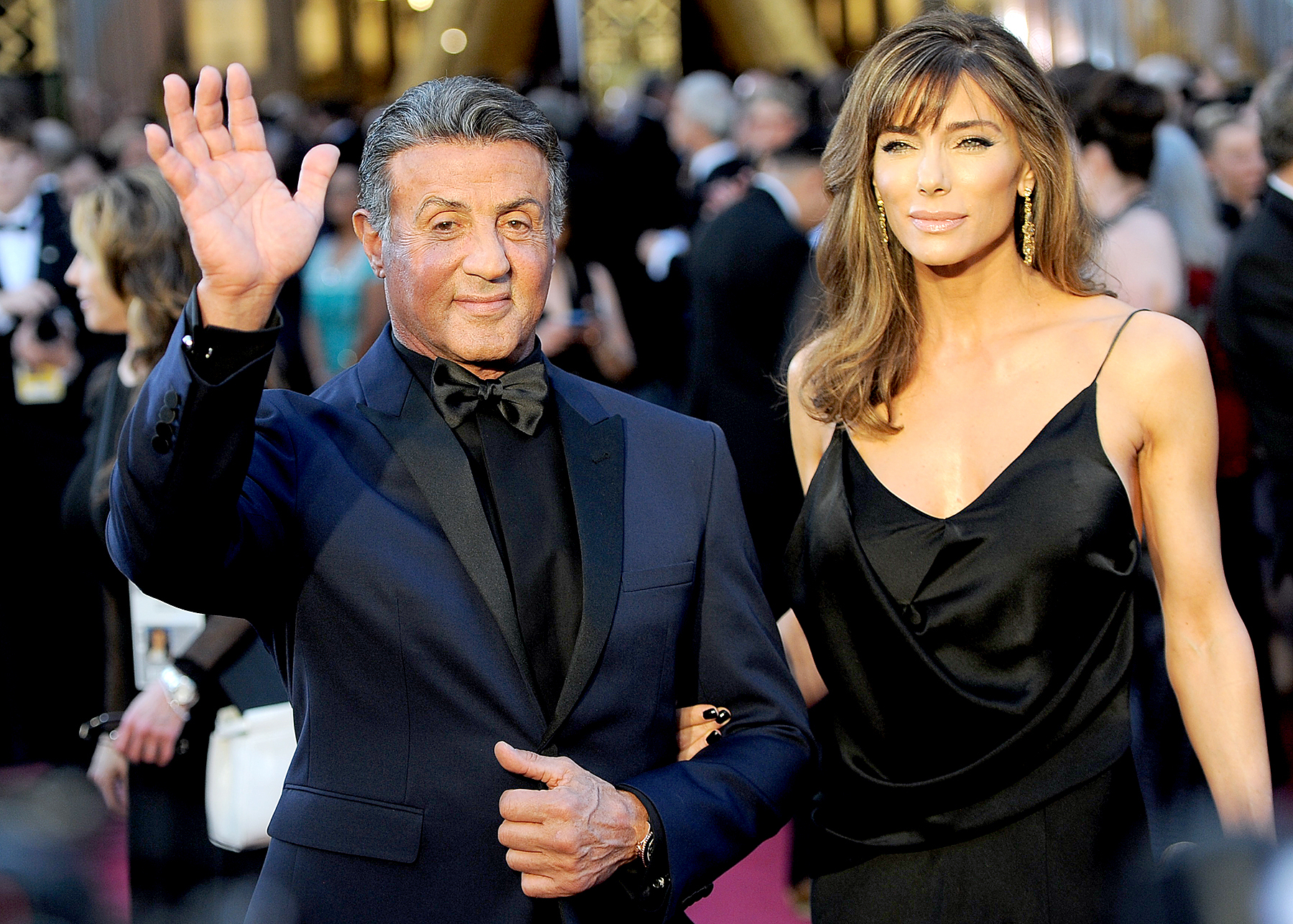 Sylvester Stallone arrives on the red carpet for the 88th Oscars.