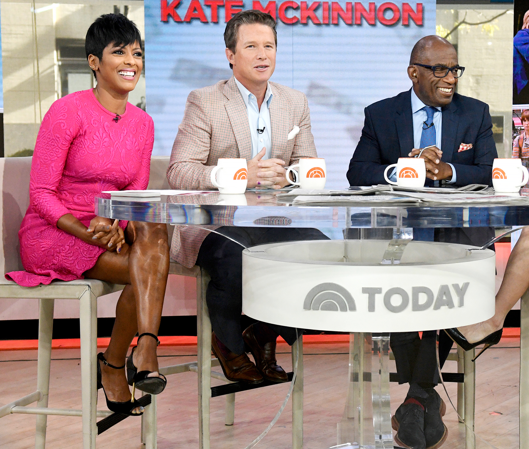 Tamron Hall, Billy Bush and Al Roker on Today, September 26, 2016.