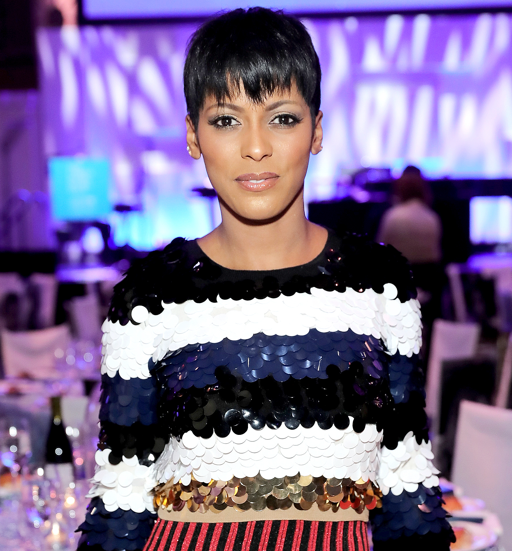 Journalist Tamron Hall attends the 12th annual UNICEF Snowflake Ball at Cipriani Wall Street on November 29, 2016 in New York City.