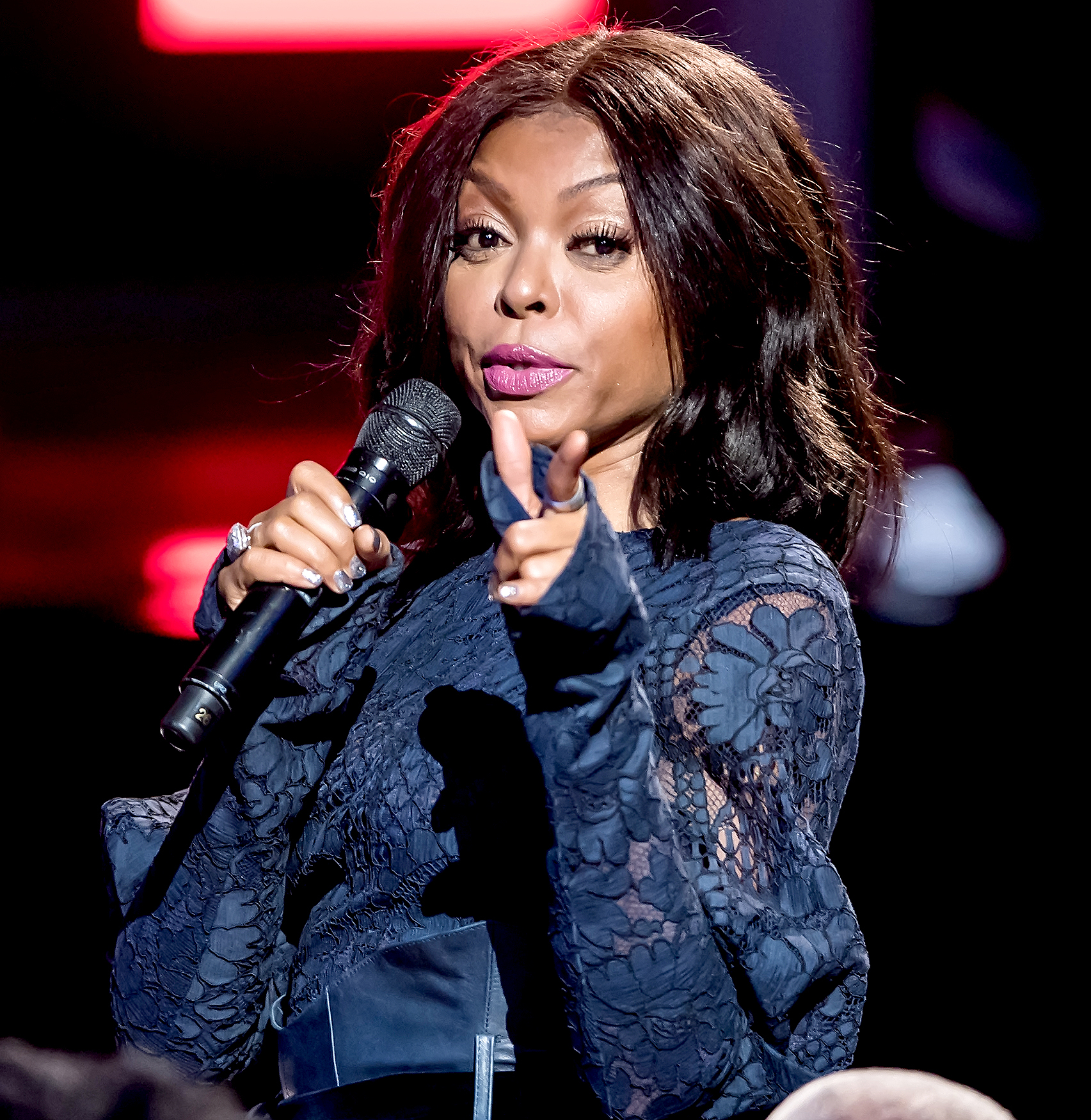 Taraji P. Henson speaks onstage during Black Girls Rock! 2017 at New Jersey Performing Arts Center on August 5, 2017 in Newark, New Jersey.