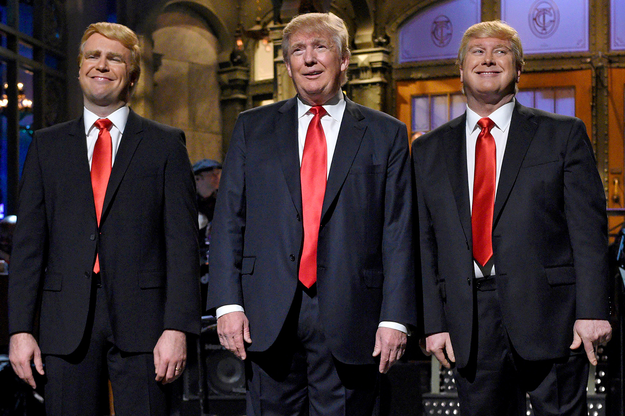 Taran Killam, Donald Trump and Darrell Hammond