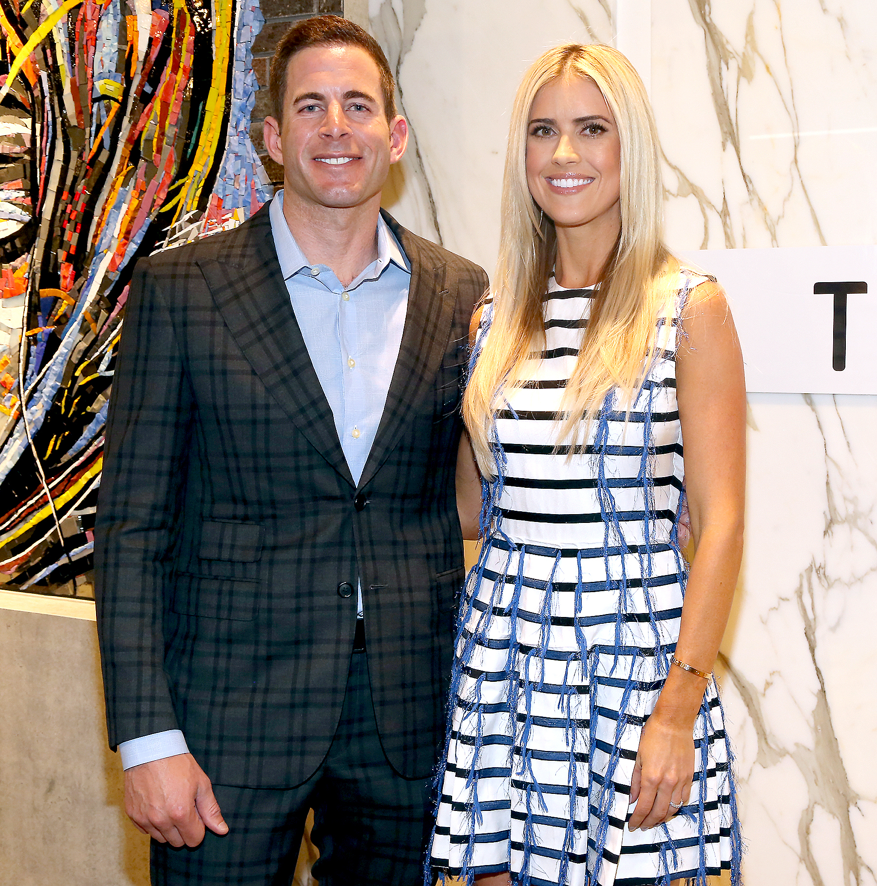 Tarek El Moussa and Christina El Moussa in New York on September 15, 2016 in New York City.