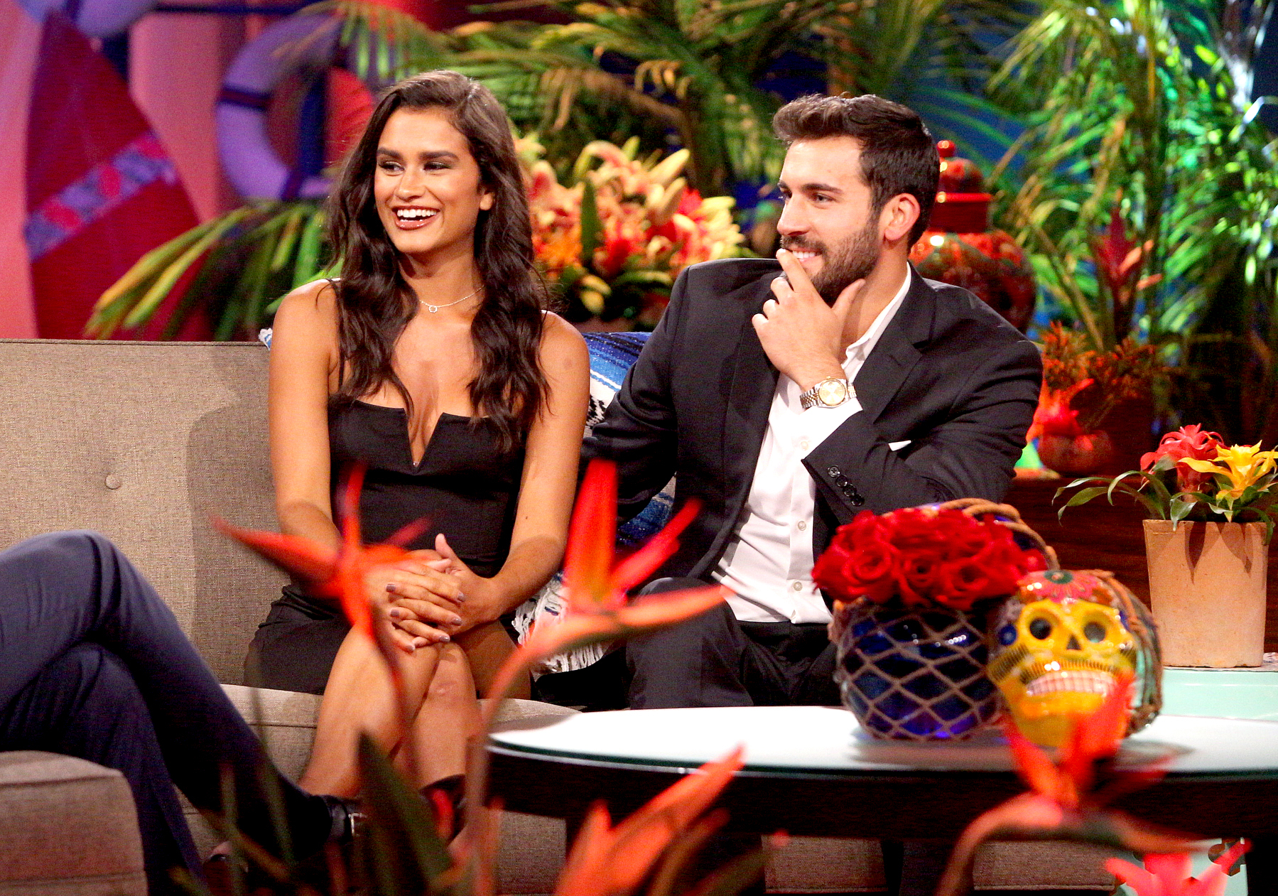 Taylor and Derek at the Bachelor in Paradise reunion.