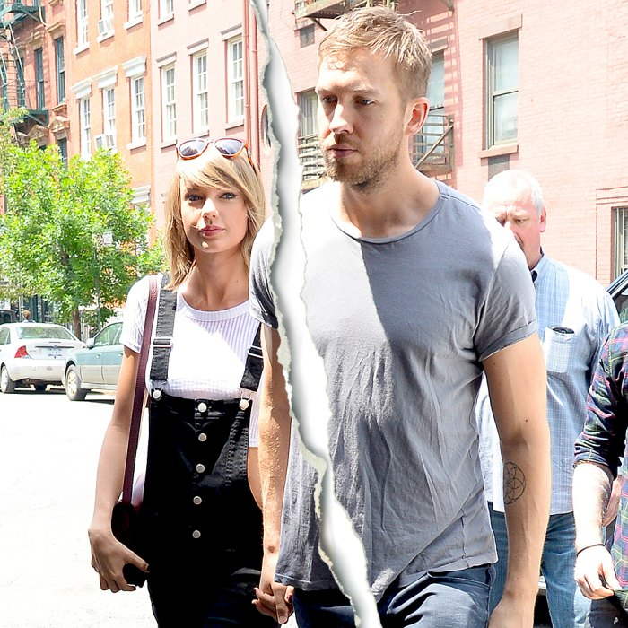 Taylor Swift and Calvin Harris seen arriving at Spotted Pig in Soho on May 28, 2015 in New York City.