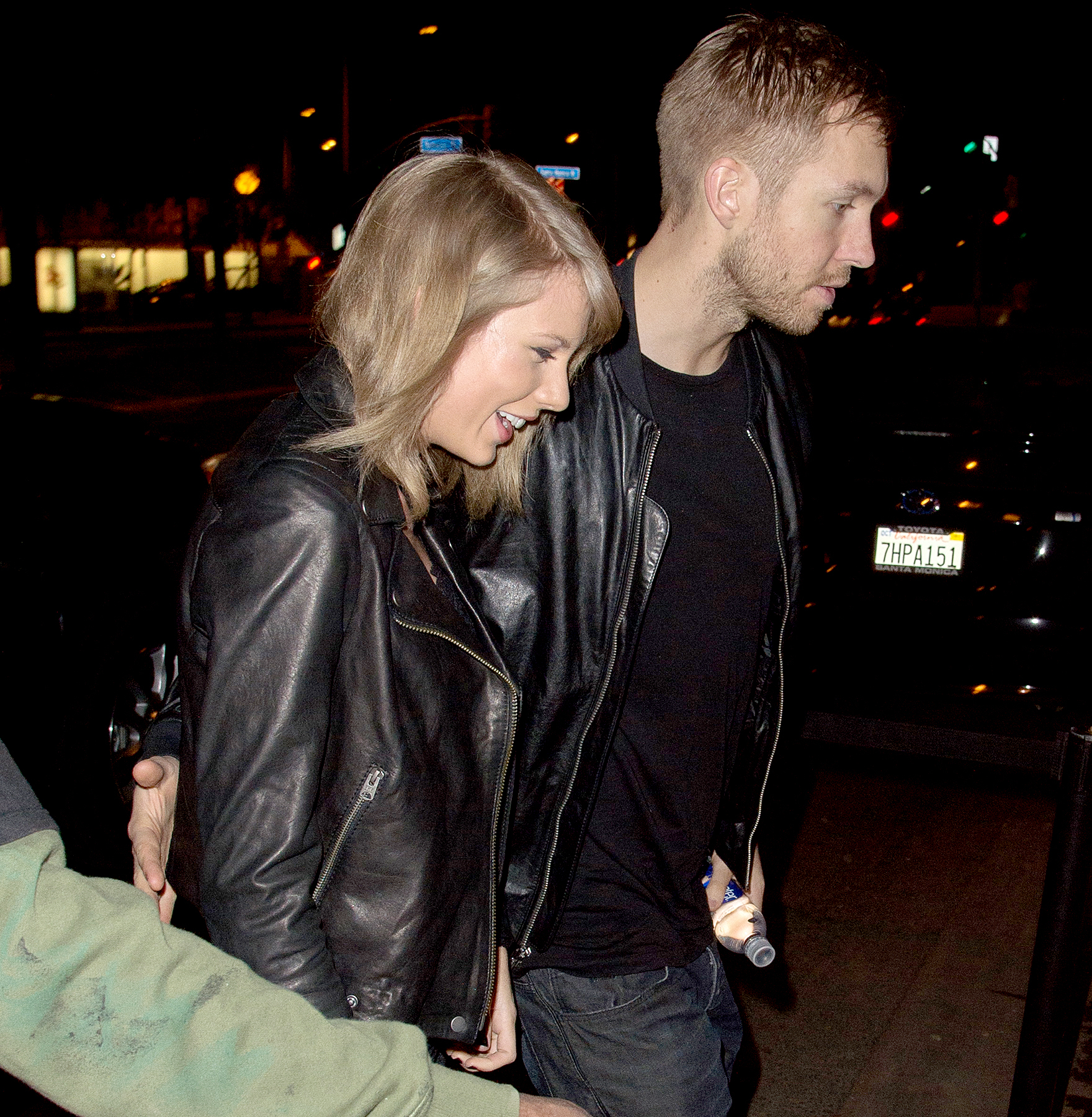 Taylor Swift and Calvin Harris arrive at the Troubadour in West Hollywood to attend a benefit concert April 2, 2015.