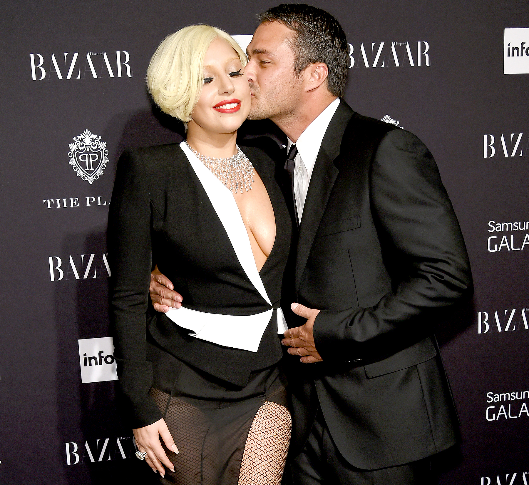 Lady Gaga and Taylor Kinney attend Samsung Galaxy at Harper's Bazaar Celebrates Icons by Carine Roitfeld at the Plaza Hotel on Sept. 5, 2014.